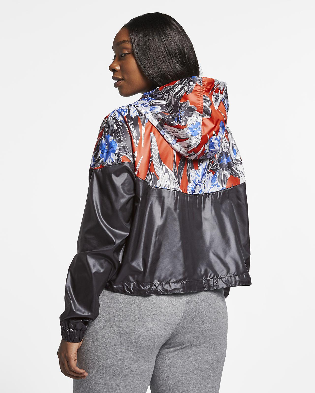 8987fa67e62 ... Nike Sportswear Windrunner Women s Cropped Floral Jacket (Plus Size)