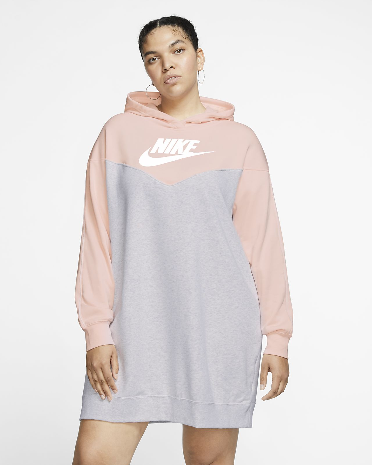 Vestido con capucha para mujer (talla grande) Nike Sportswear Heritage