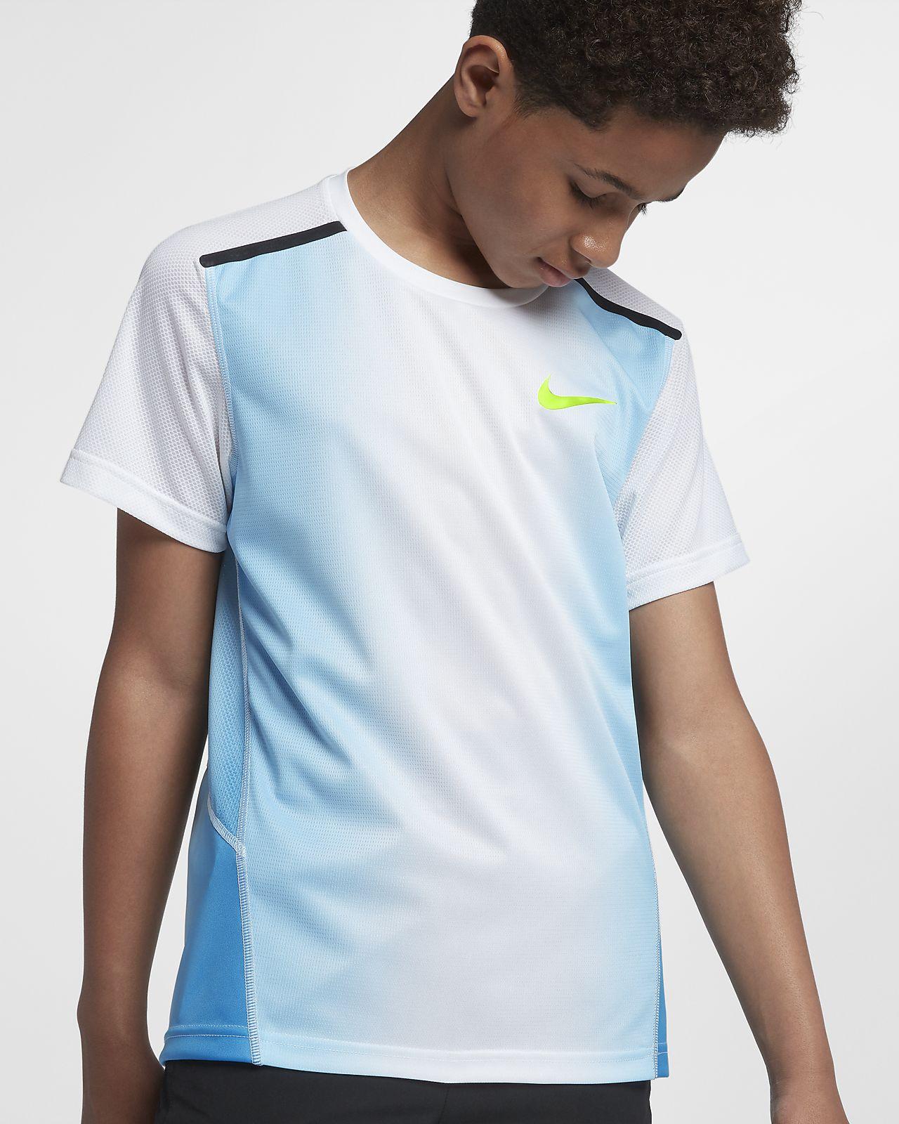 Tréninkové tričko Nike s krátkým rukávem pro větší děti (chlapce)