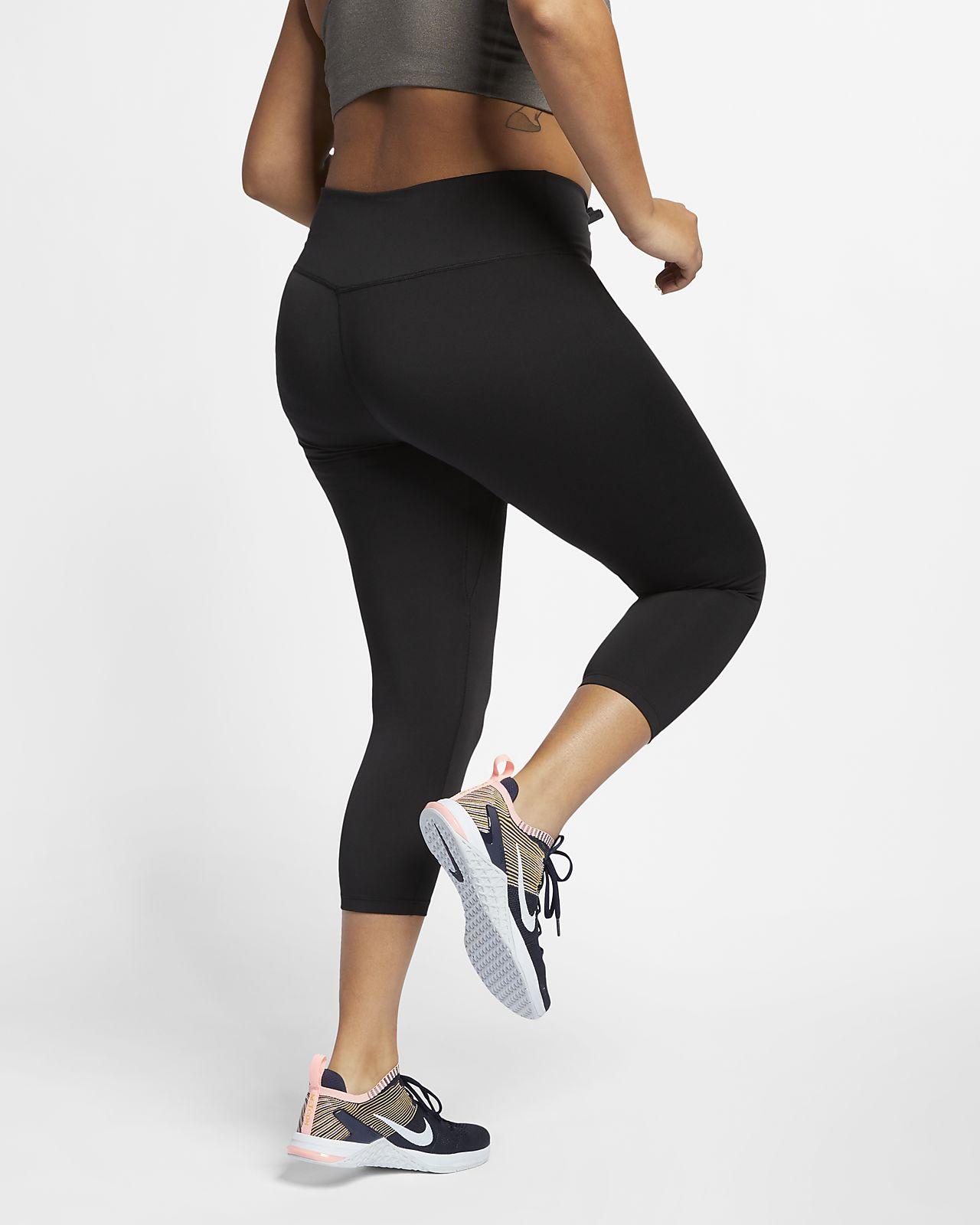 bc46cc64b4de ... Tights Nike One i trekvartslängd för kvinnor (större storlekar)