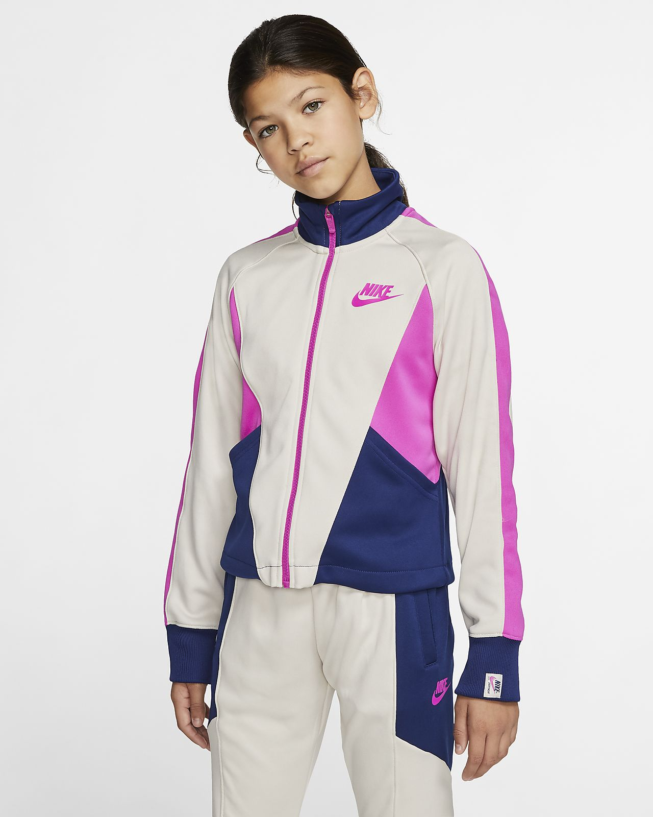 Nike Sportswear Heritage Big Kids' (Girls') Full-Zip Jacket