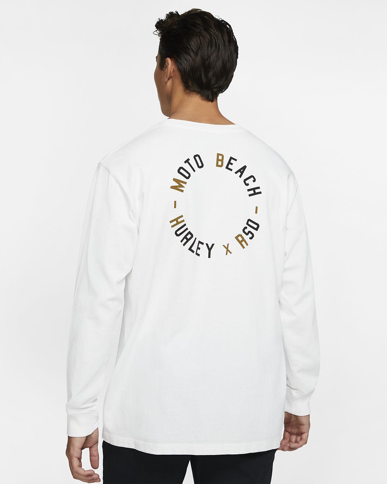 T-shirt a manica lunga Hurley x Roland Sands Moto Beach - Uomo
