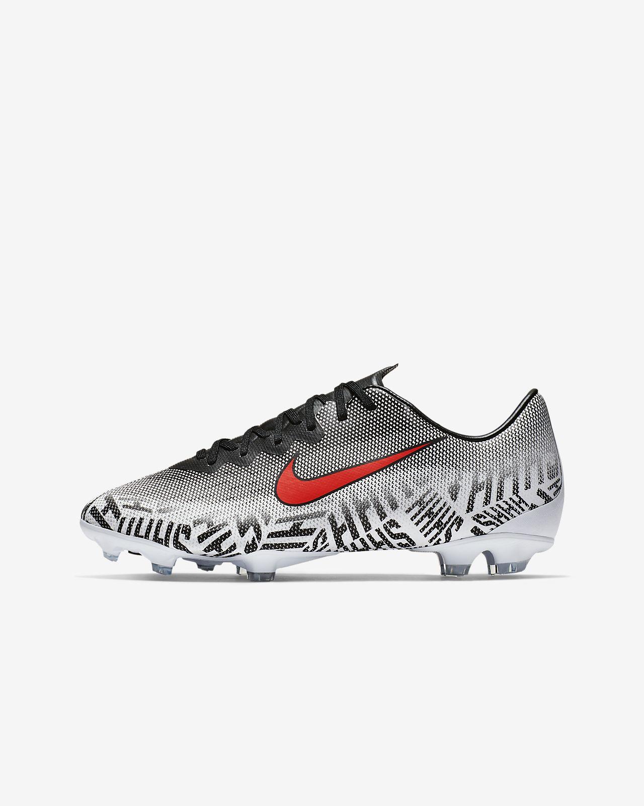 Fotbollssko för gräs Nike Jr. Mercurial Vapor 12 Elite Neymar Jr. FG för ungdom