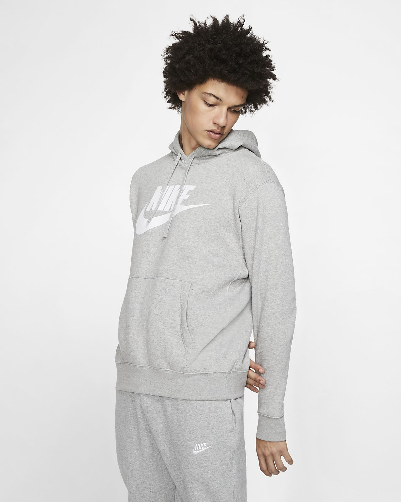 Huvtröja Nike Sportswear Club Fleece med tryck för män