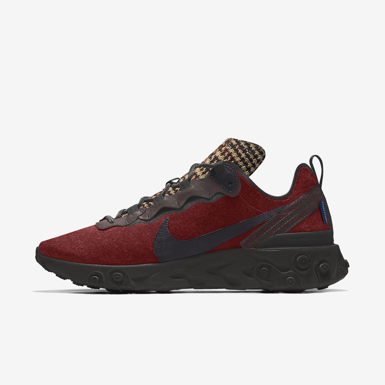 Nike React Element 55 Pendleton By You Custom Men's Shoe