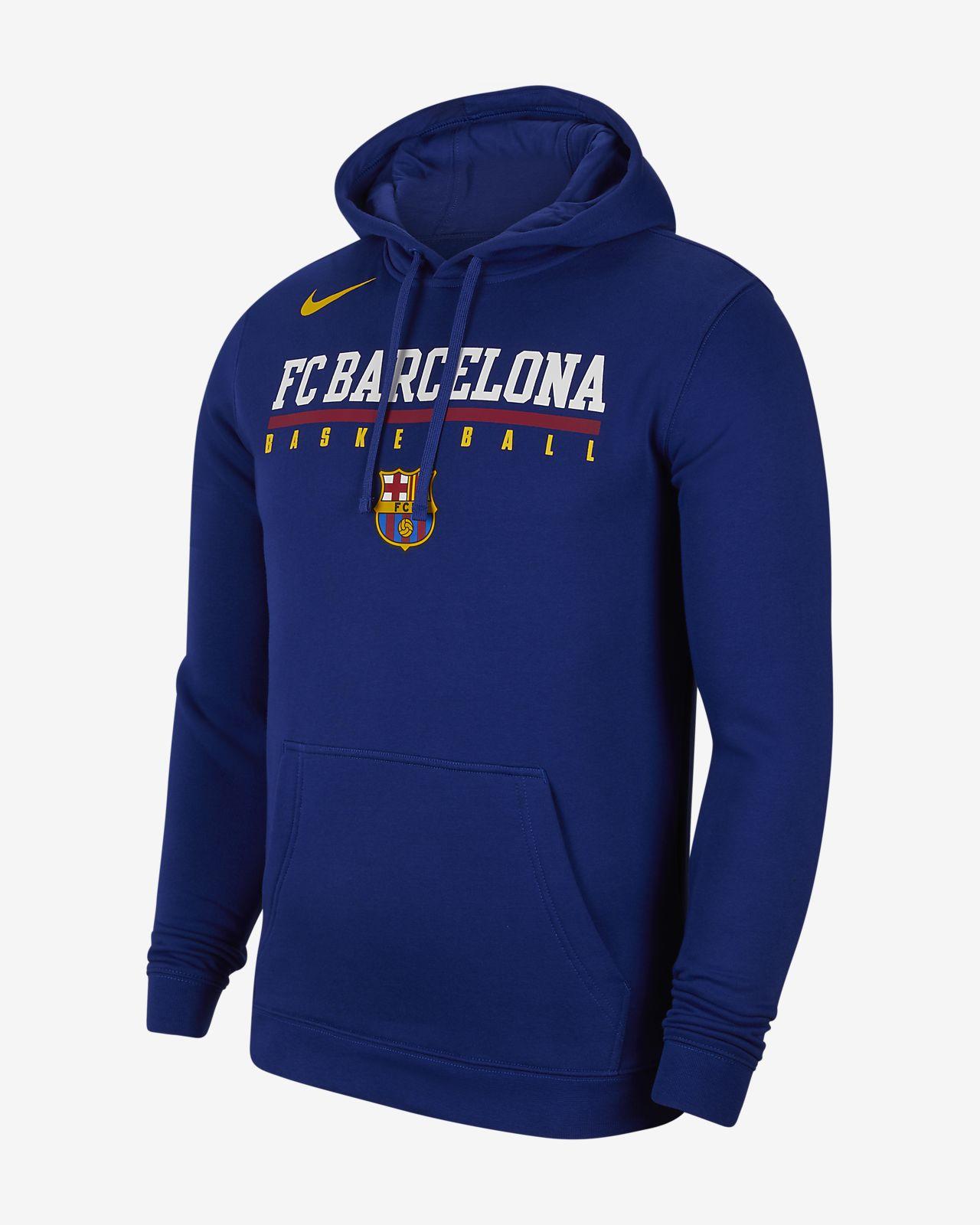 Sweat à capuche en tissu Fleece FC Barcelona pour Homme