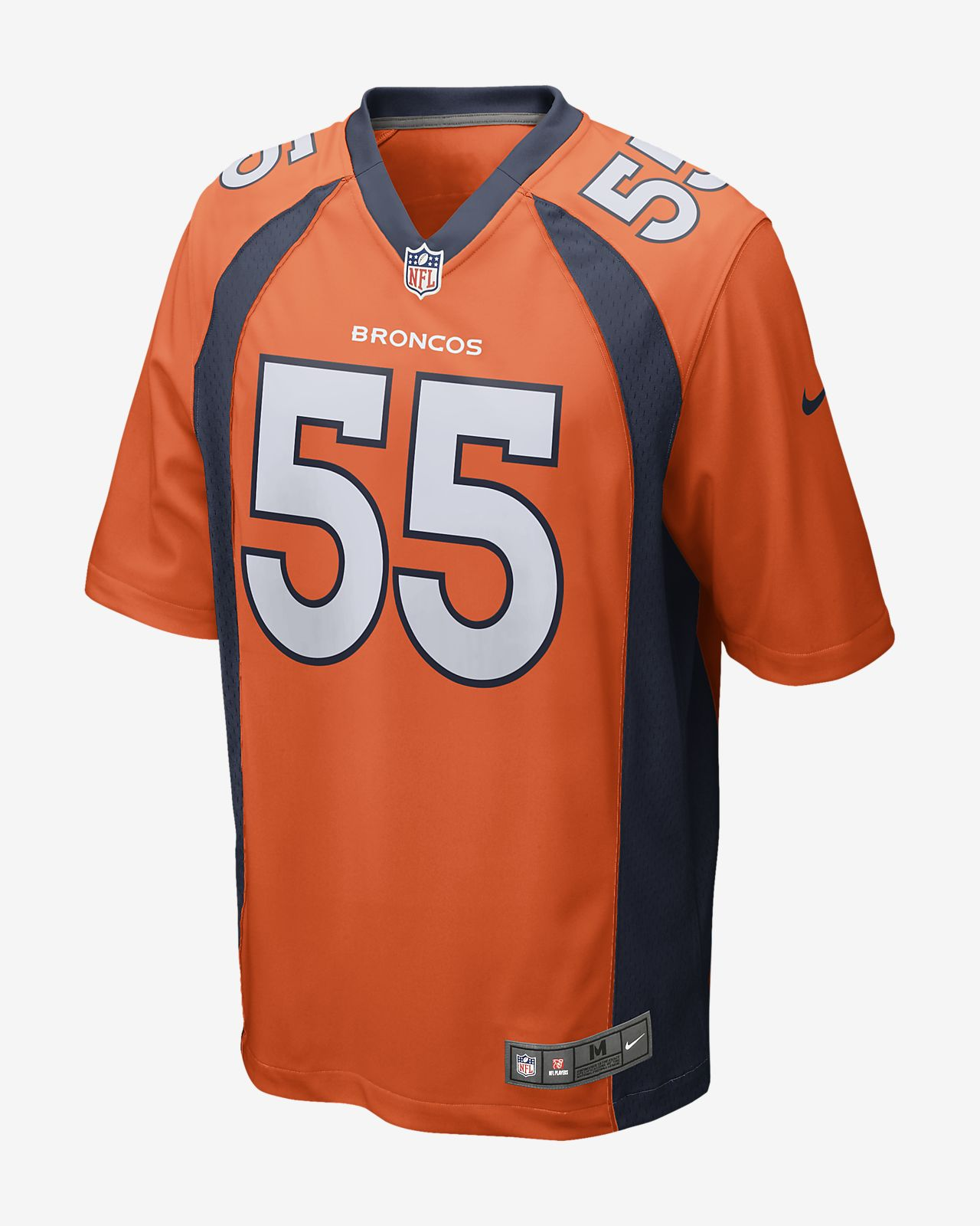 e5b48943 NFL Denver Broncos Game (Bradley Chubb) Men's Football Jersey