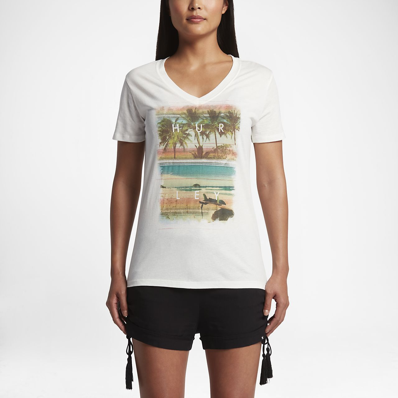 Hurley Lakey Peterson Perfect V Women's T-Shirts Sail