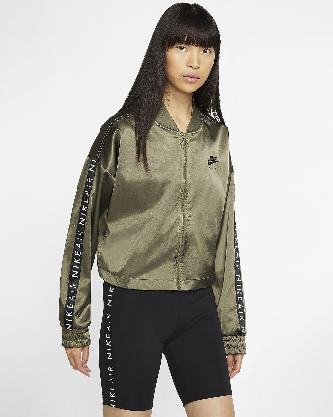 Nike Air Satin-Trainingsjacke für Damen