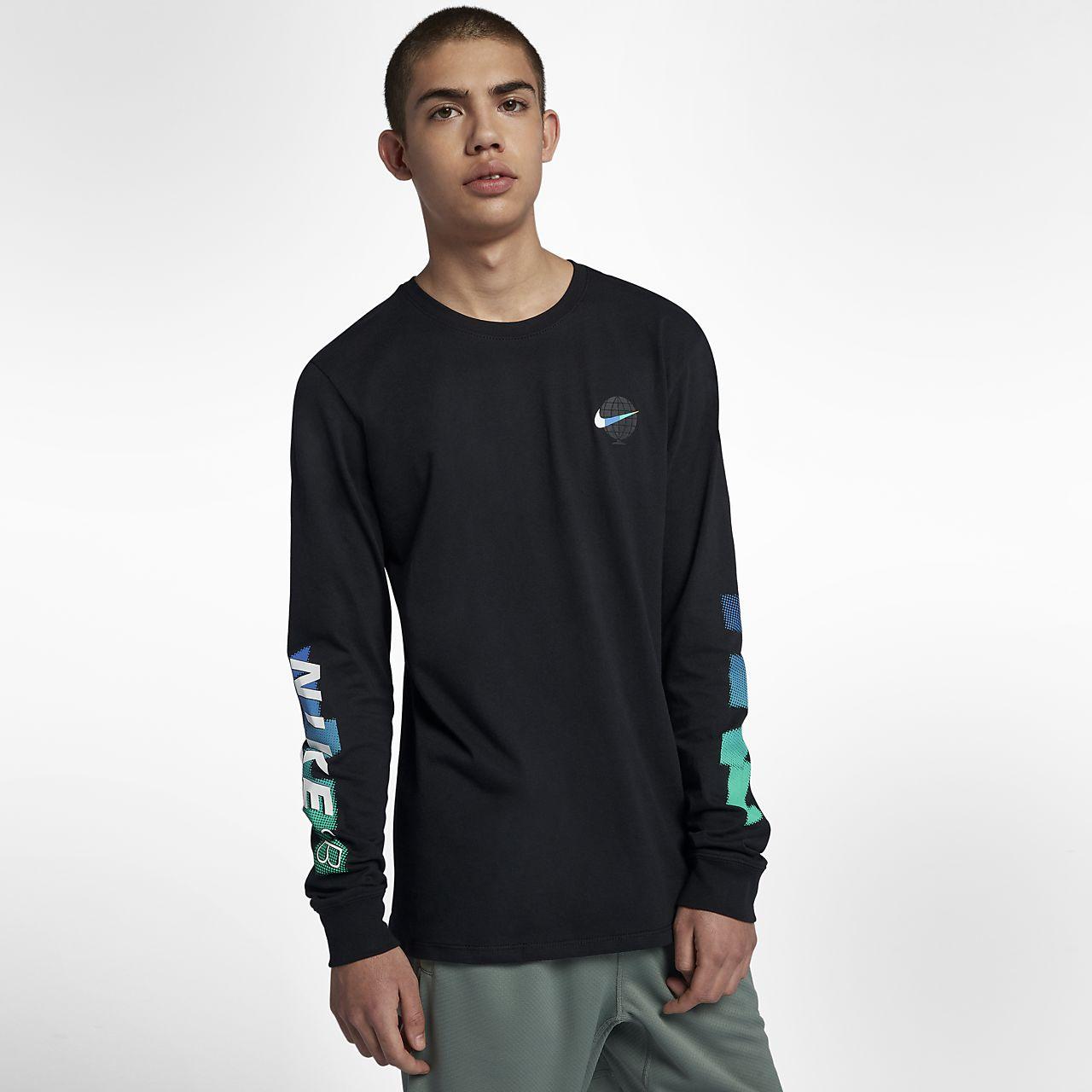 Nike SB 男款長袖滑板 T 恤