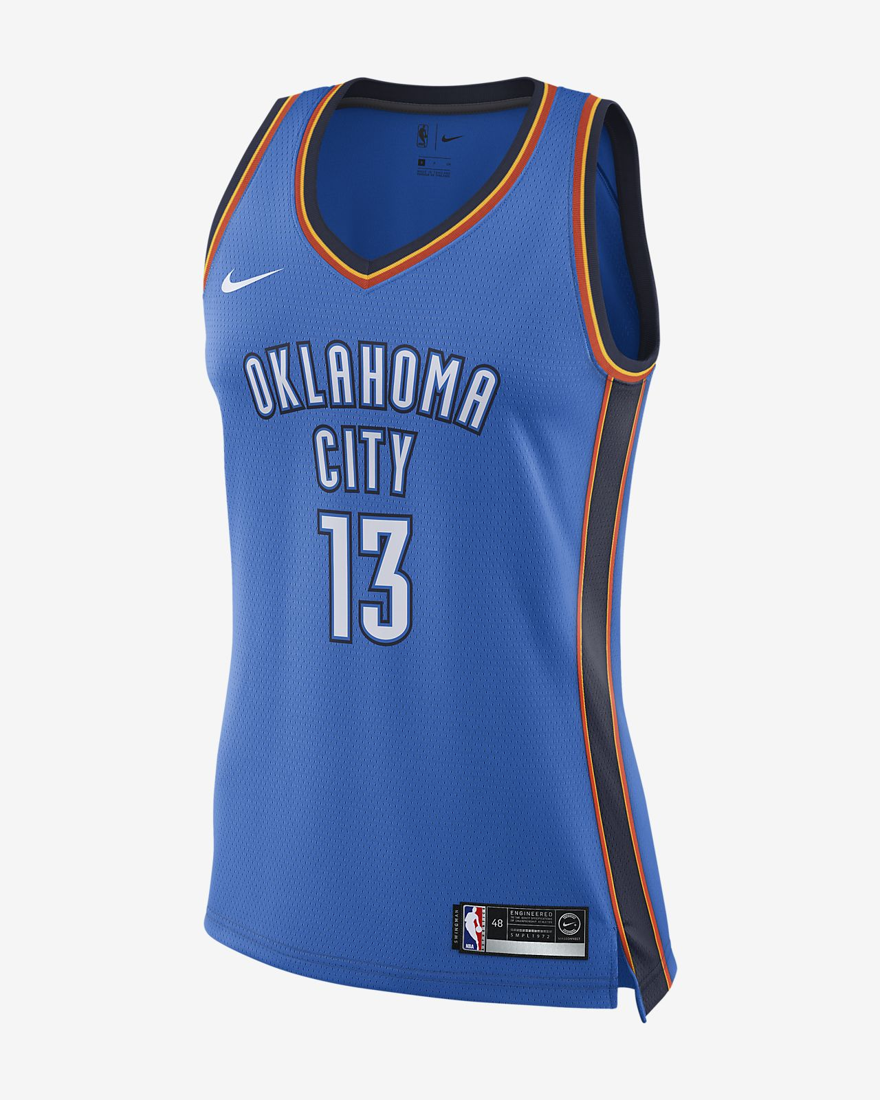 Paul George Icon Edition Swingman (Oklahoma City Thunder) Women's Nike NBA Connected Jersey