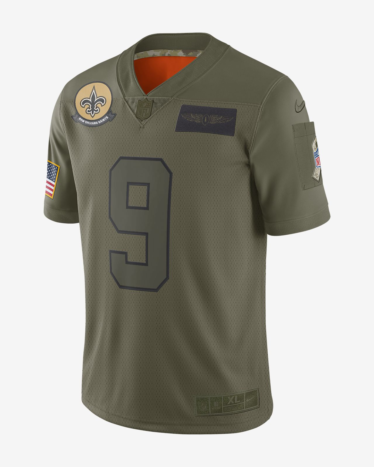 NFL New Orleans Saints Limited Salute To Service (Drew Brees) Men's Football Jersey