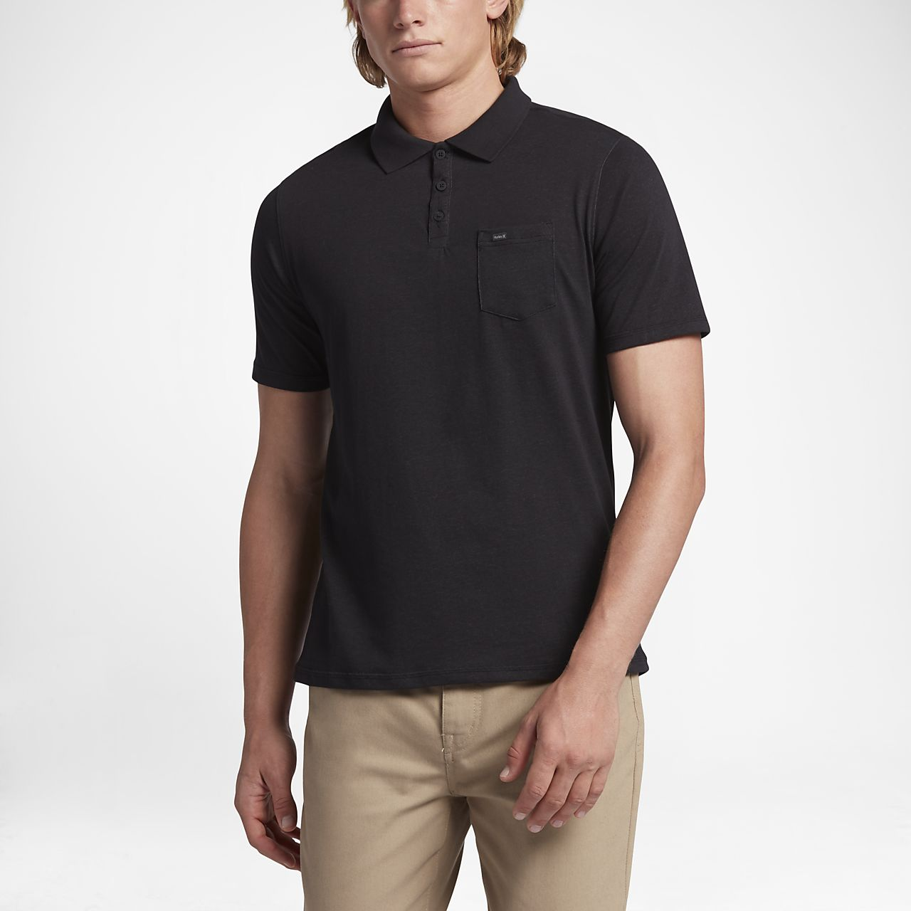 Hurley Polo Dri Fit Lagos Black