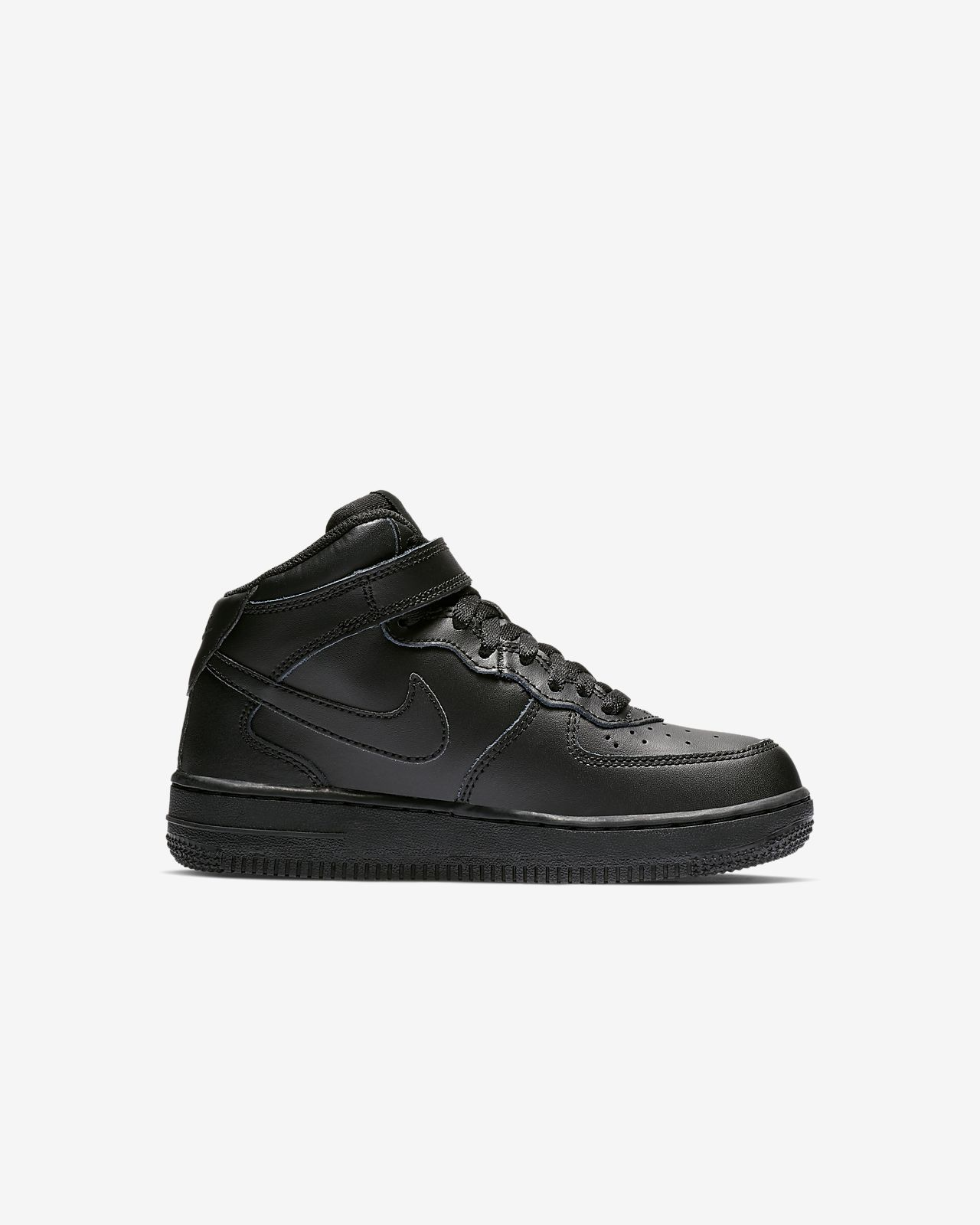 Nike Black Air Force 1 Mid Children Shoes Nike 06 Junior