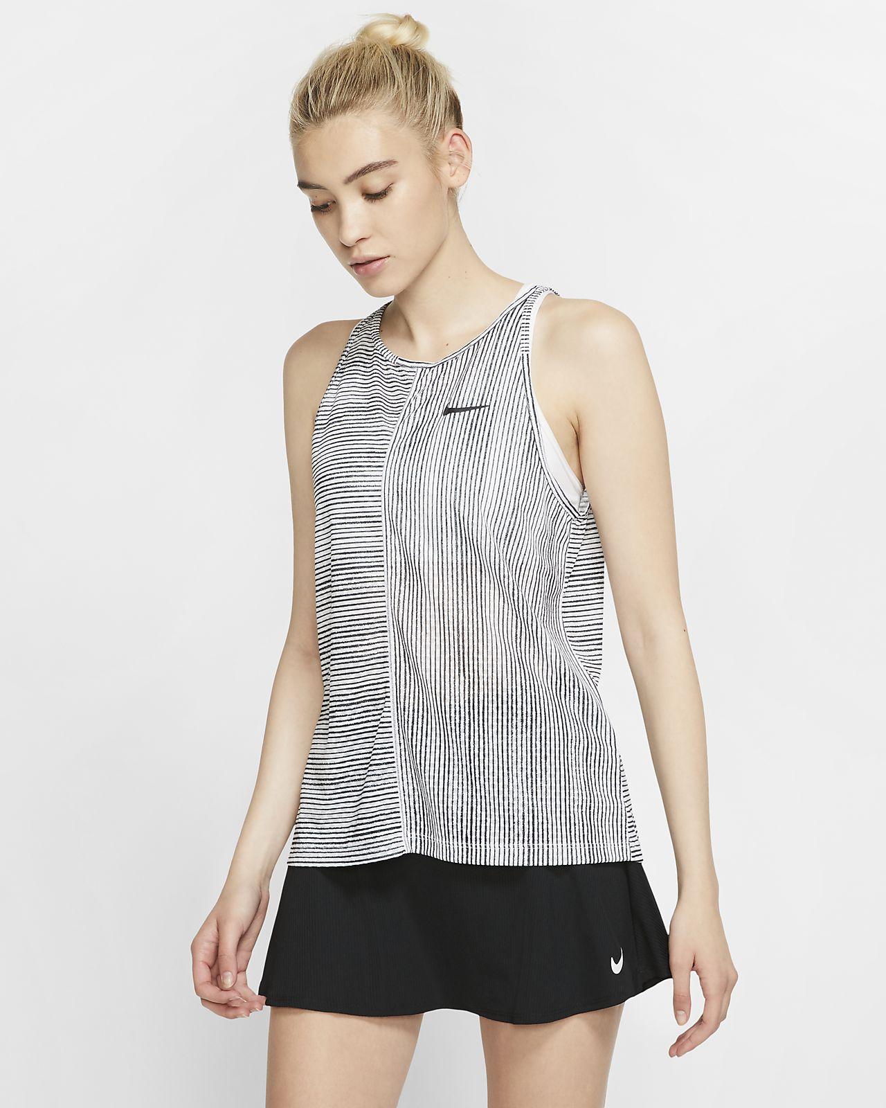 NikeCourt-tennistanktop med print til kvinder