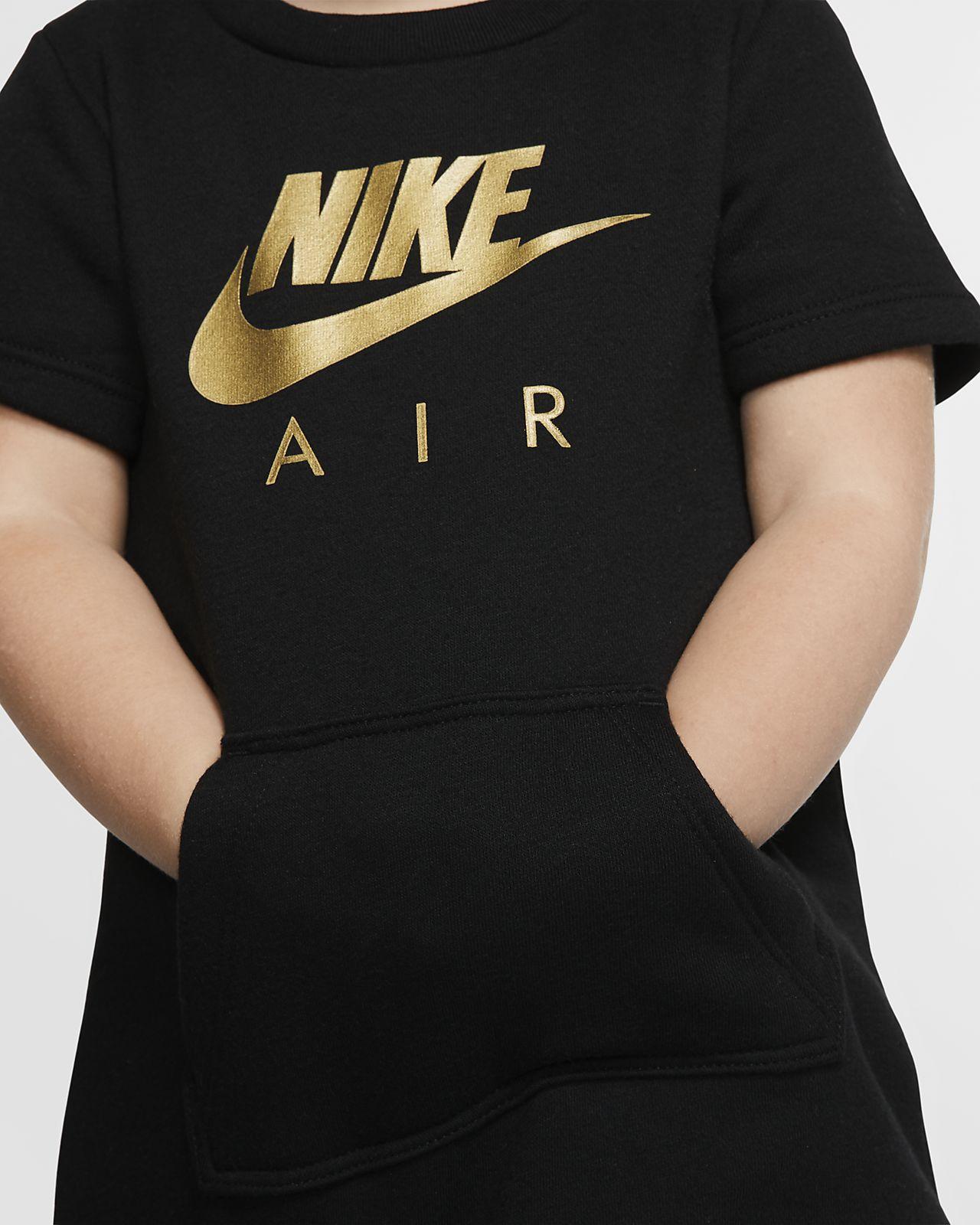 Nike Sportswear Air Kurzarm Fleece Kleid für Kleinkinder