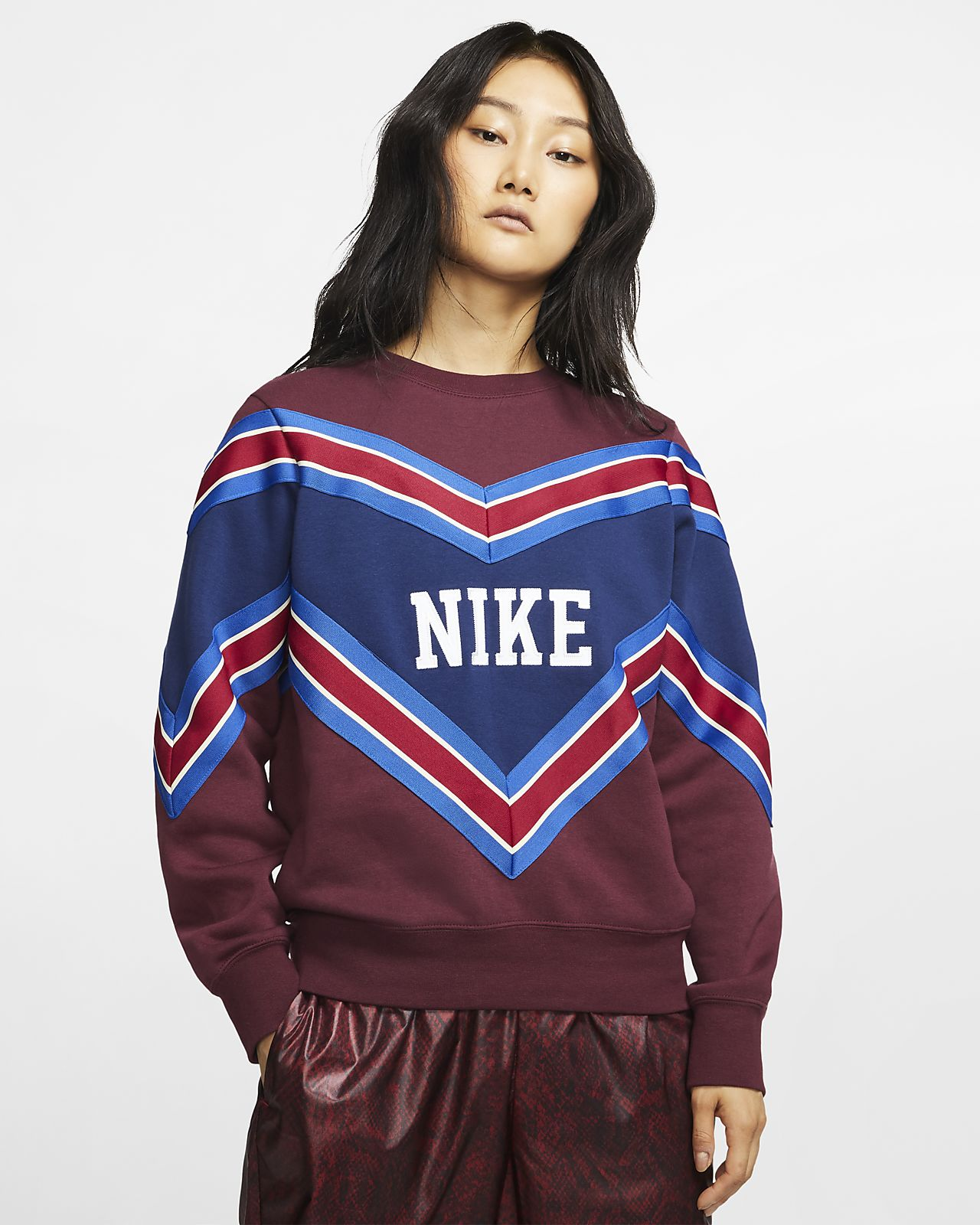 Details about Nike Sportswear NSW Men's Woven Crew L Red White Blue Casual Pullover Sweatshirt