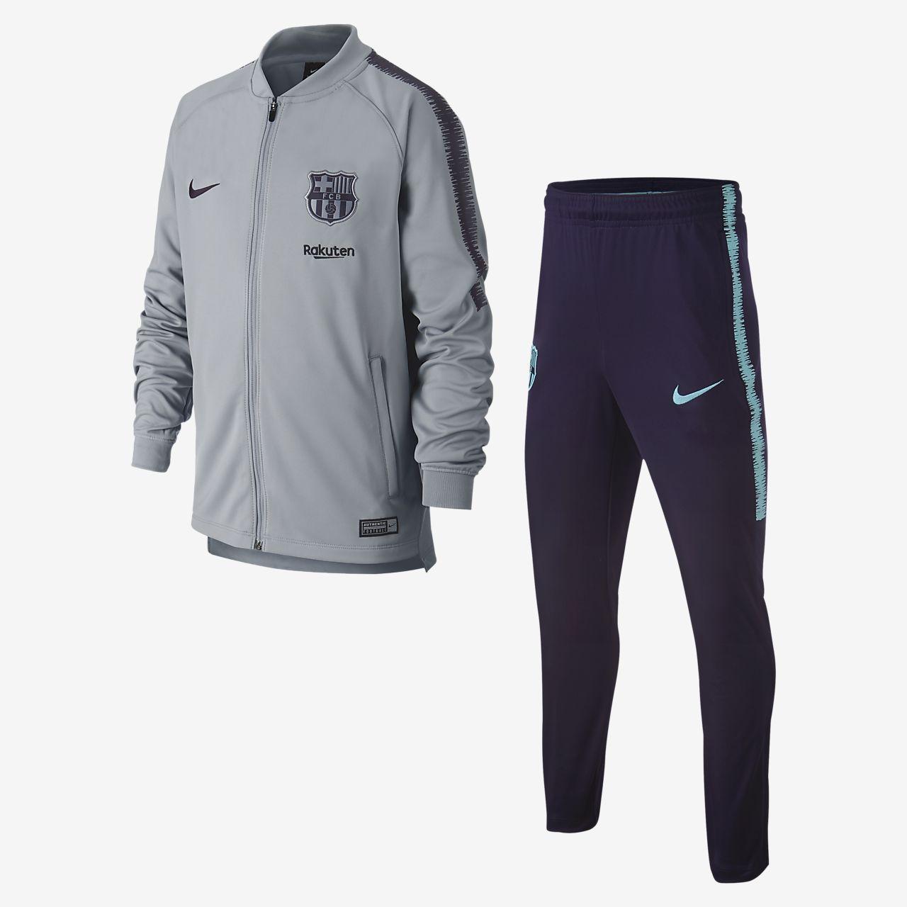 Survêtement de football FC Barcelona Dri-FIT Squad pour Enfant plus ... b2cc0980751