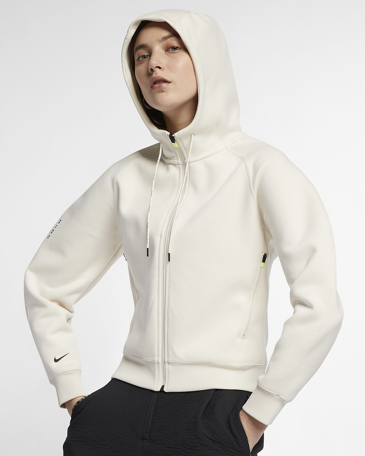 Dámská flísová mikina Nike Sportswear Tech Pack s kapucí a zipem po celé délce