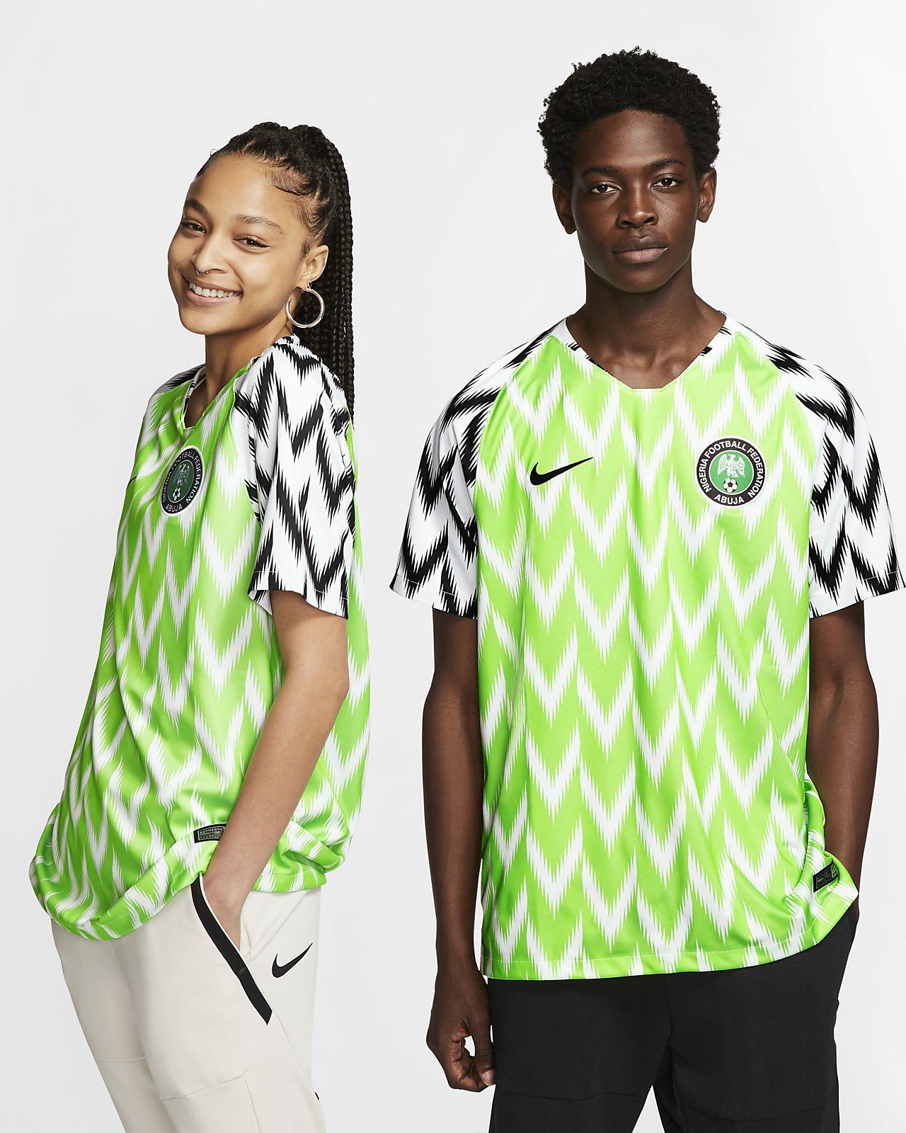 e51b3361c62 Nigeria 2019 Stadium Home Soccer Jersey. Nike.com