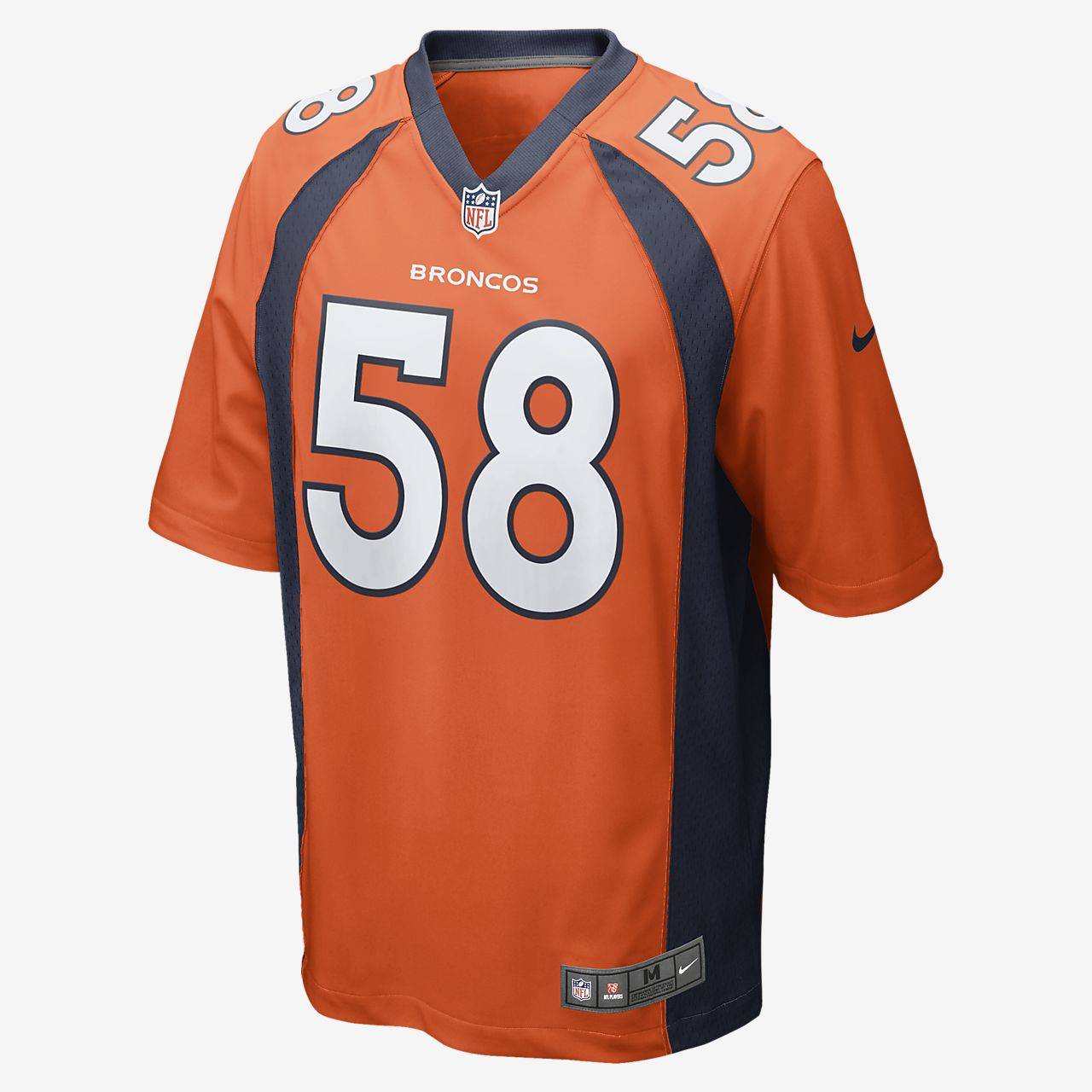 Camiseta de fútbol americano para hombre NFL Denver Broncos (Von Miller)
