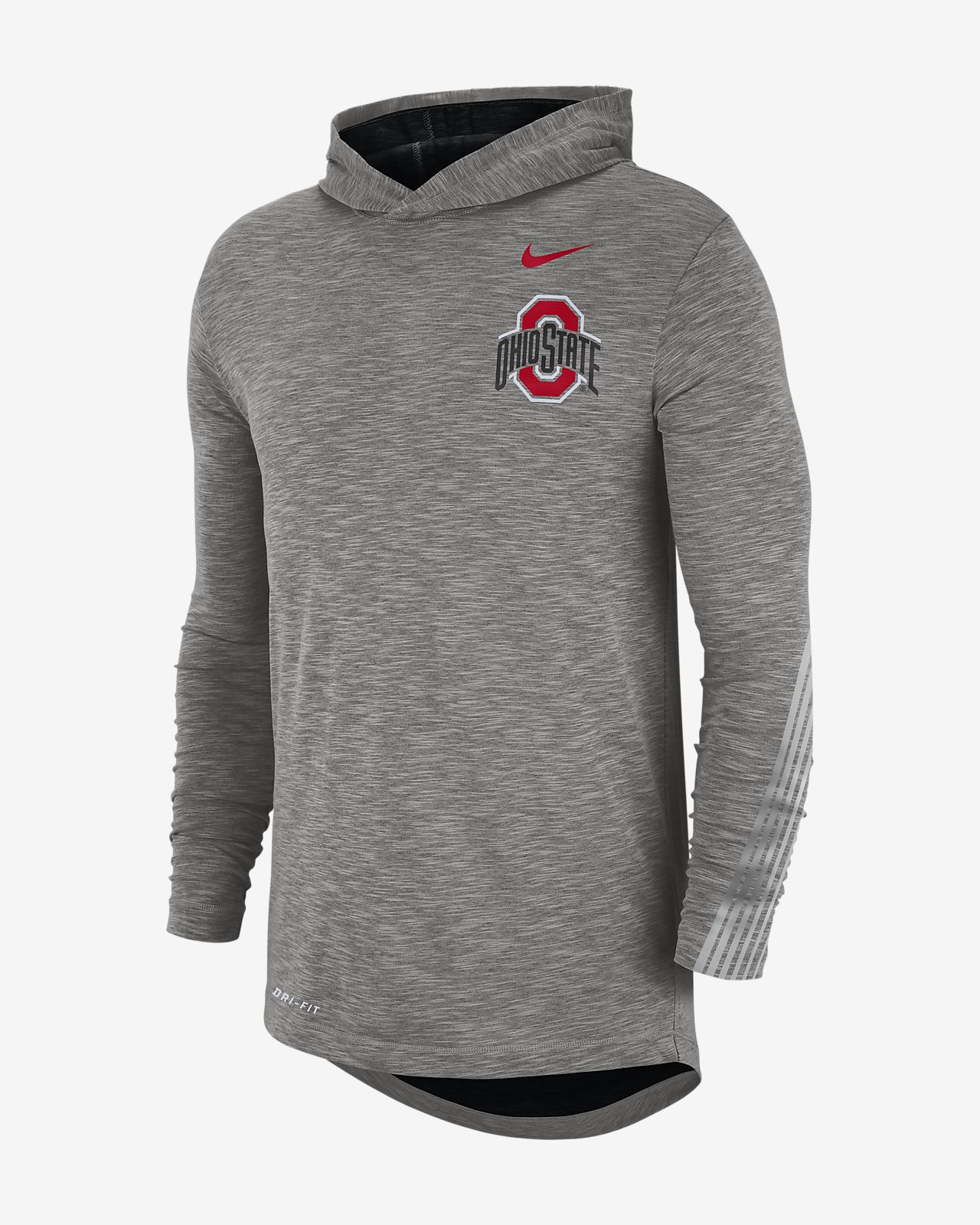 Nike College (Ohio State) Men's Long-Sleeve Hooded T-Shirt