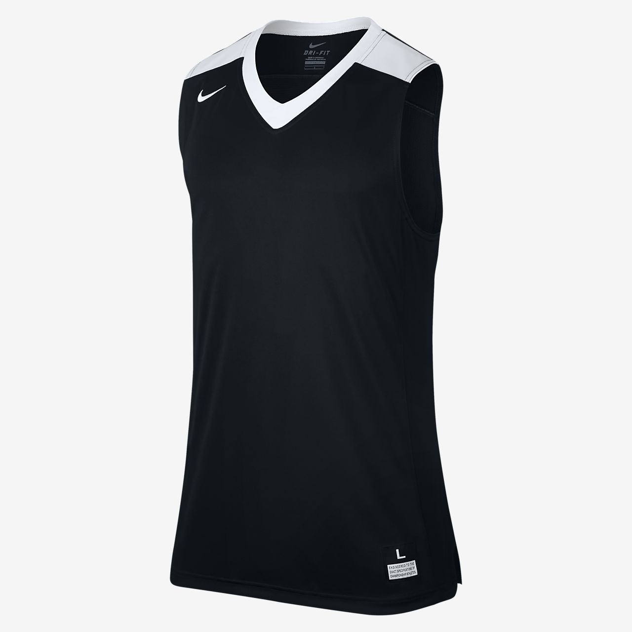 Nike Elite Men's Sleeveless Basketball Jerseys Team Black/Team White