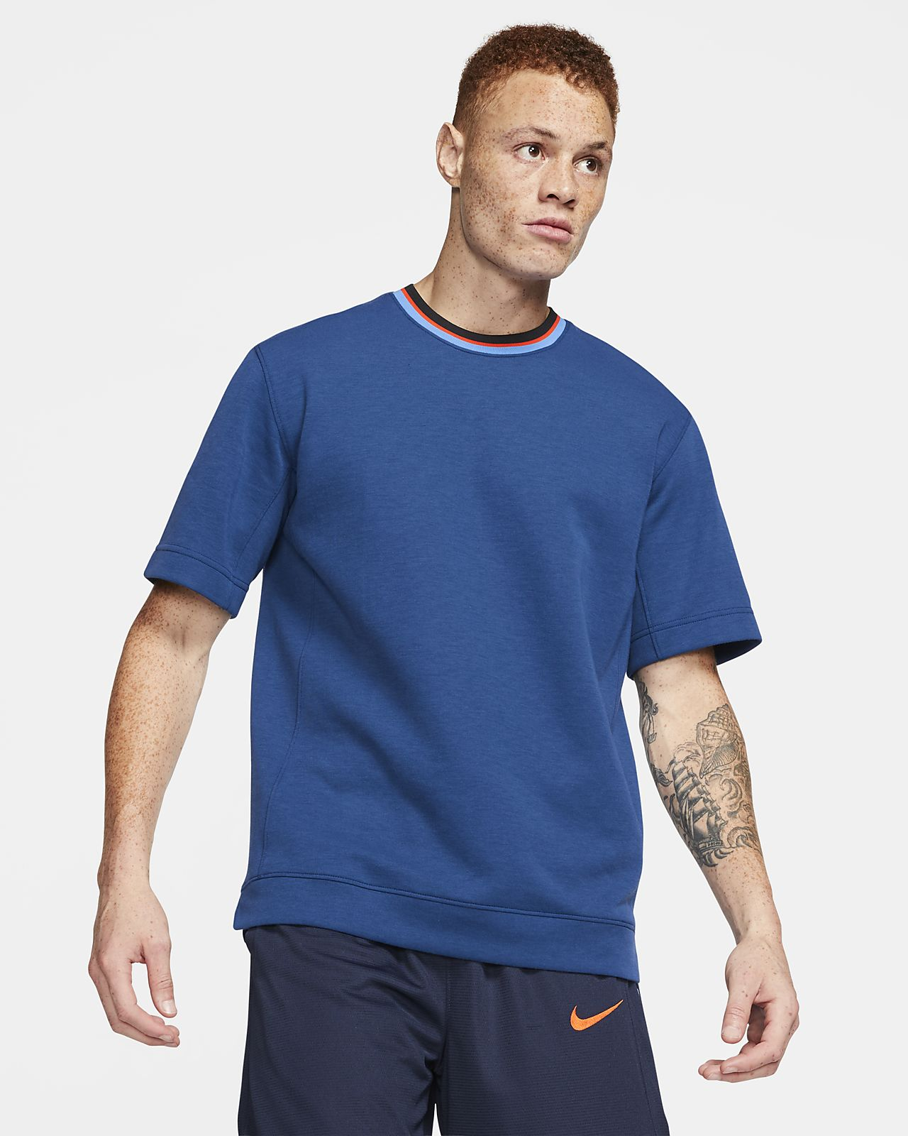 Camisola de basquetebol de manga curta Nike Dri-FIT para homem