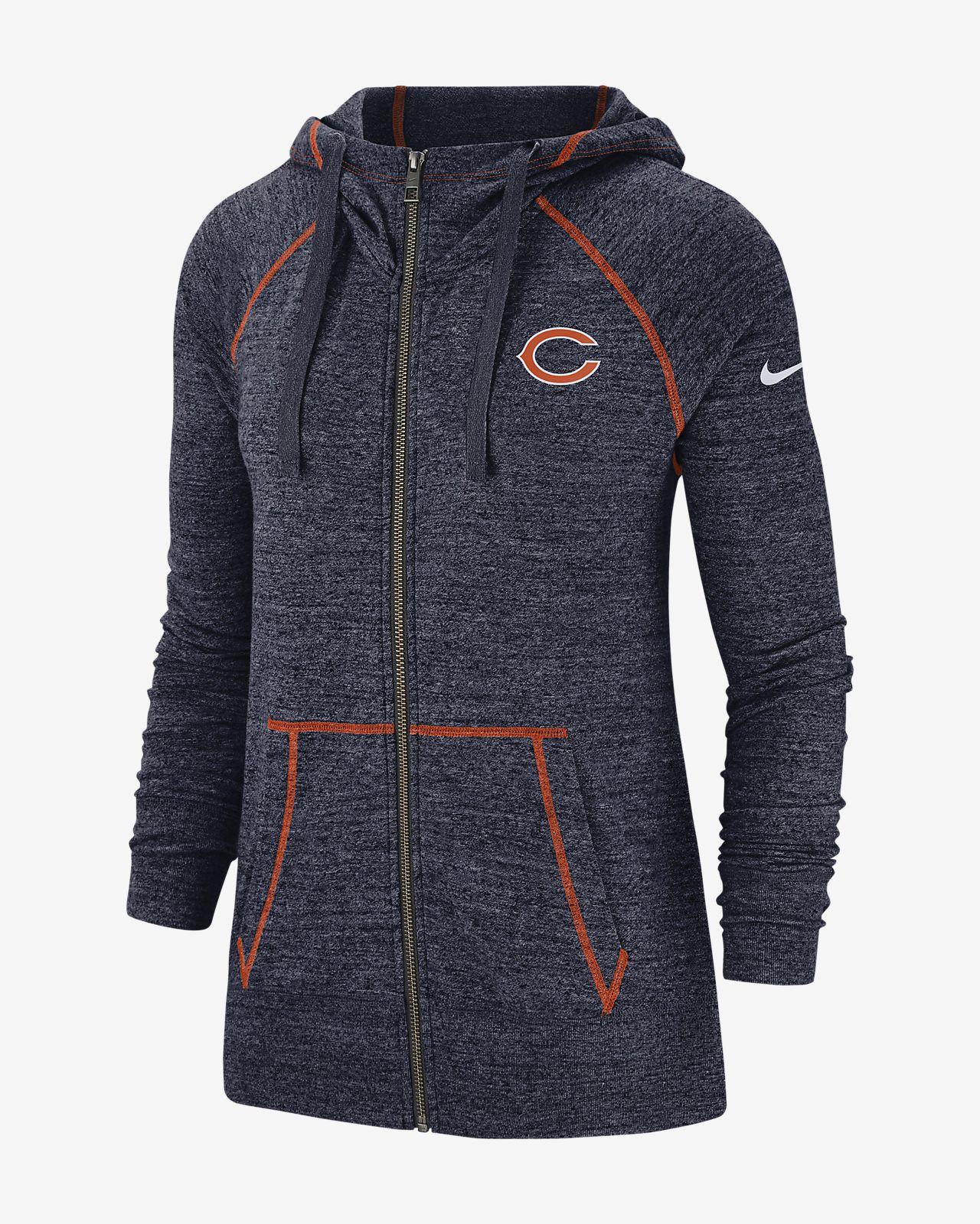 Nike Gym Vintage (NFL Bears) Women's Full-Zip Hoodie