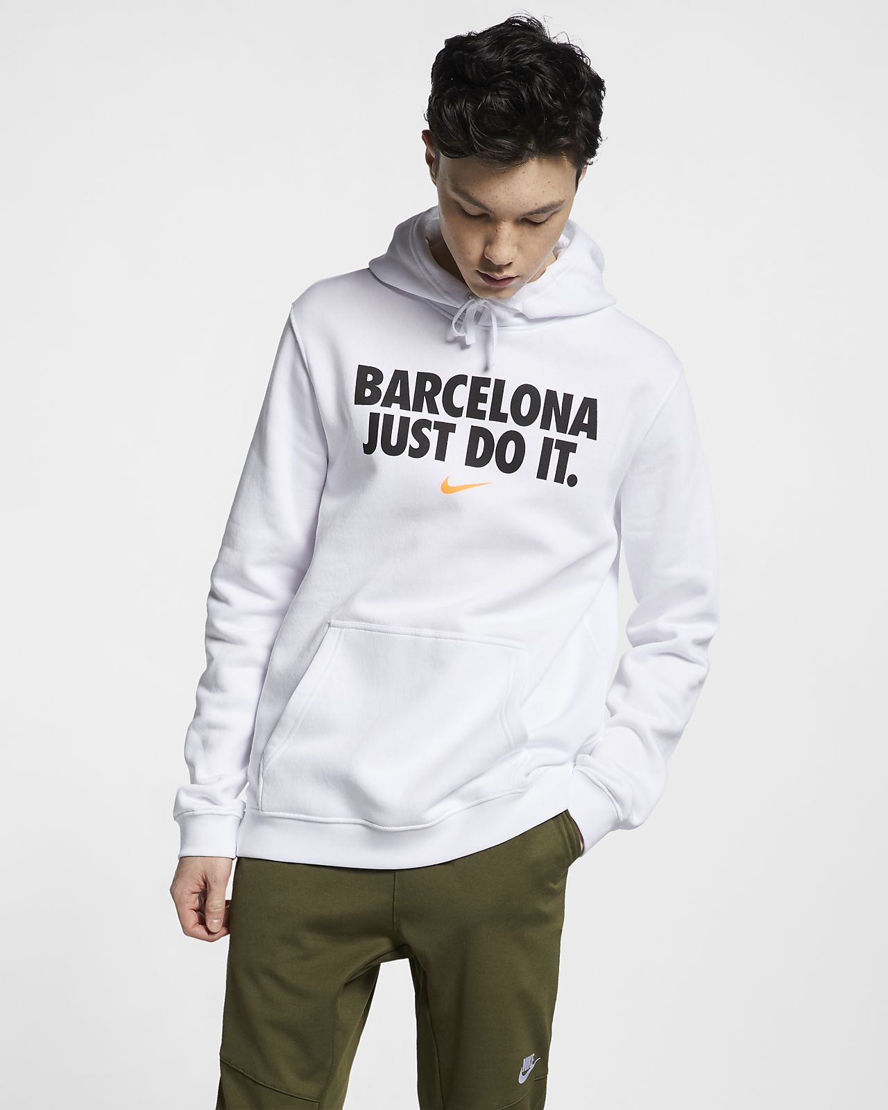 af1371d8522f7 Felpa pullover con cappuccio Nike Sportswear Club Fleece - Uomo ...