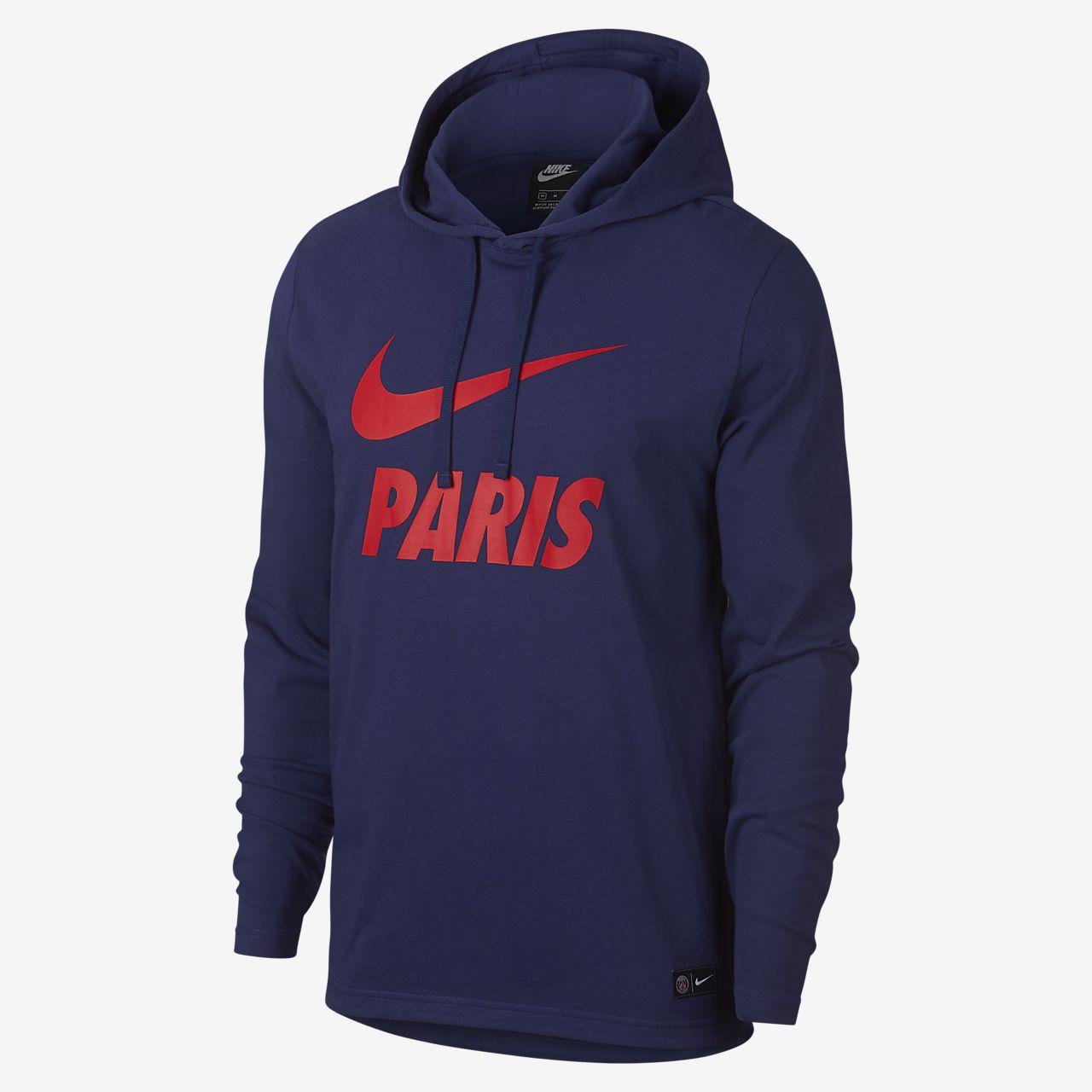 Paris Saint-Germain férfi kapucnis pulóver. Nike.com HU 09dbc15b8c
