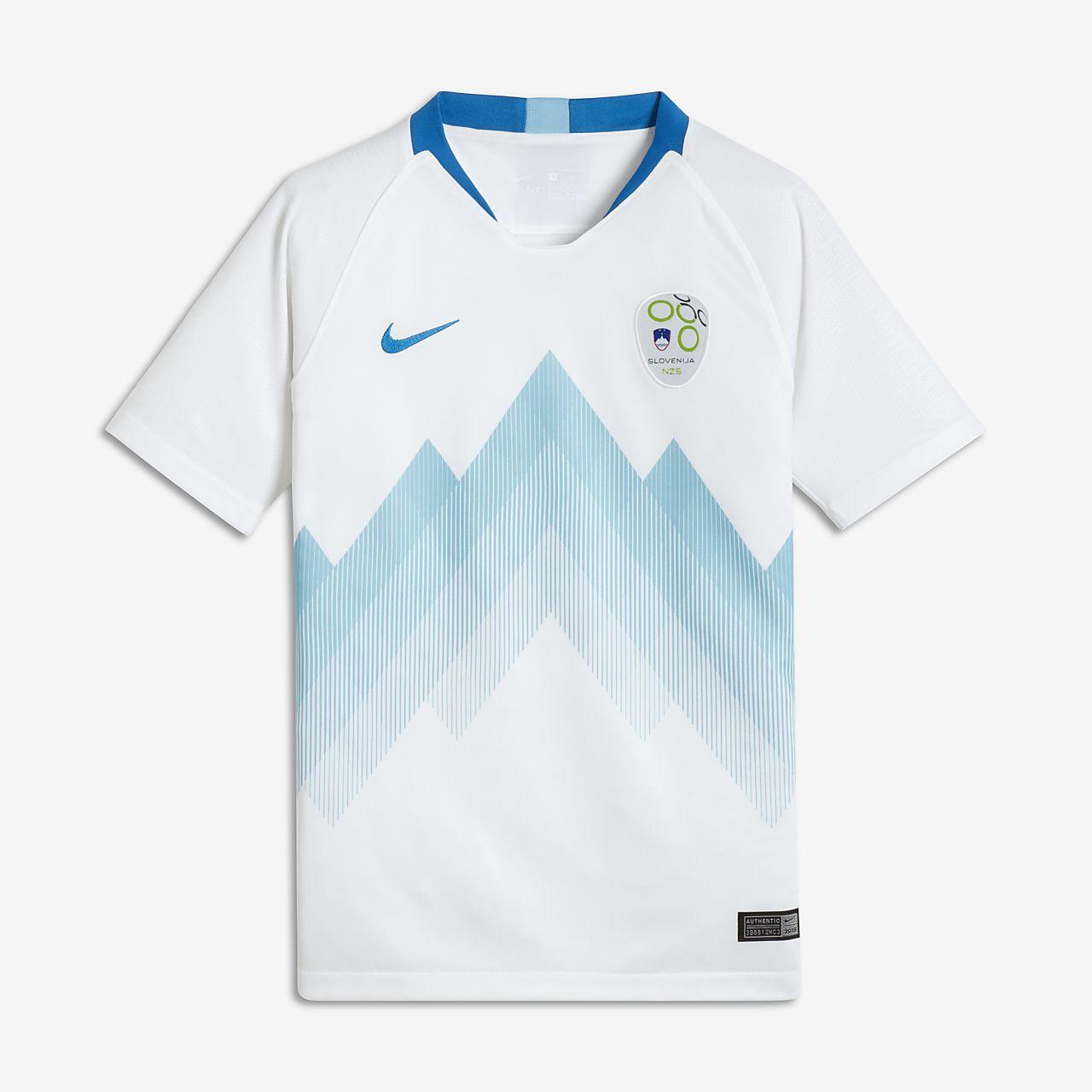 55e2bedbce9a3 ... Camiseta de fútbol para niños talla grande 2018 Slovenia Stadium Home