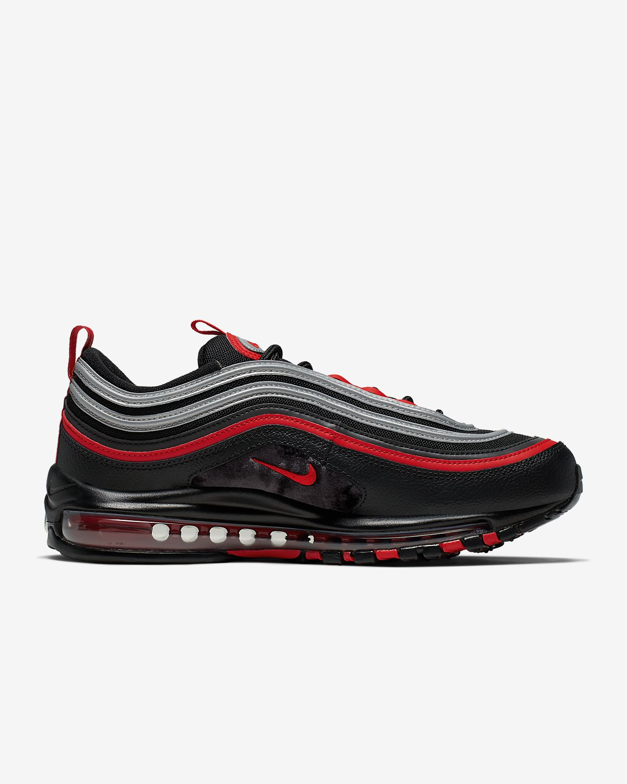 Nike air max 97 white volt black red shoes. in 2019 Nike air max