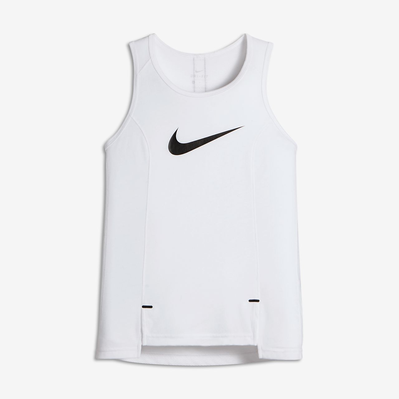 Nike Dry Big Kids' Basketball Tank Tops White/Black
