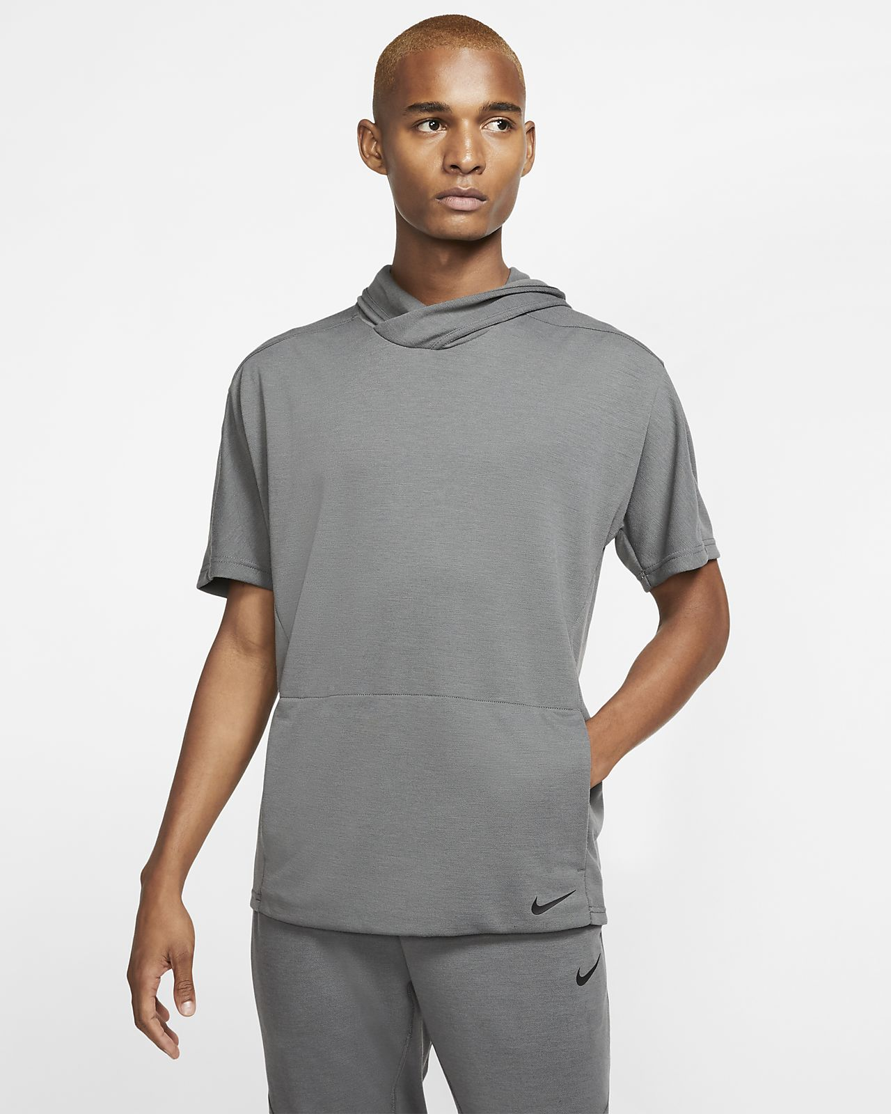 Nike Yoga Dri-FIT Men's Short-Sleeve Pullover Hoodie