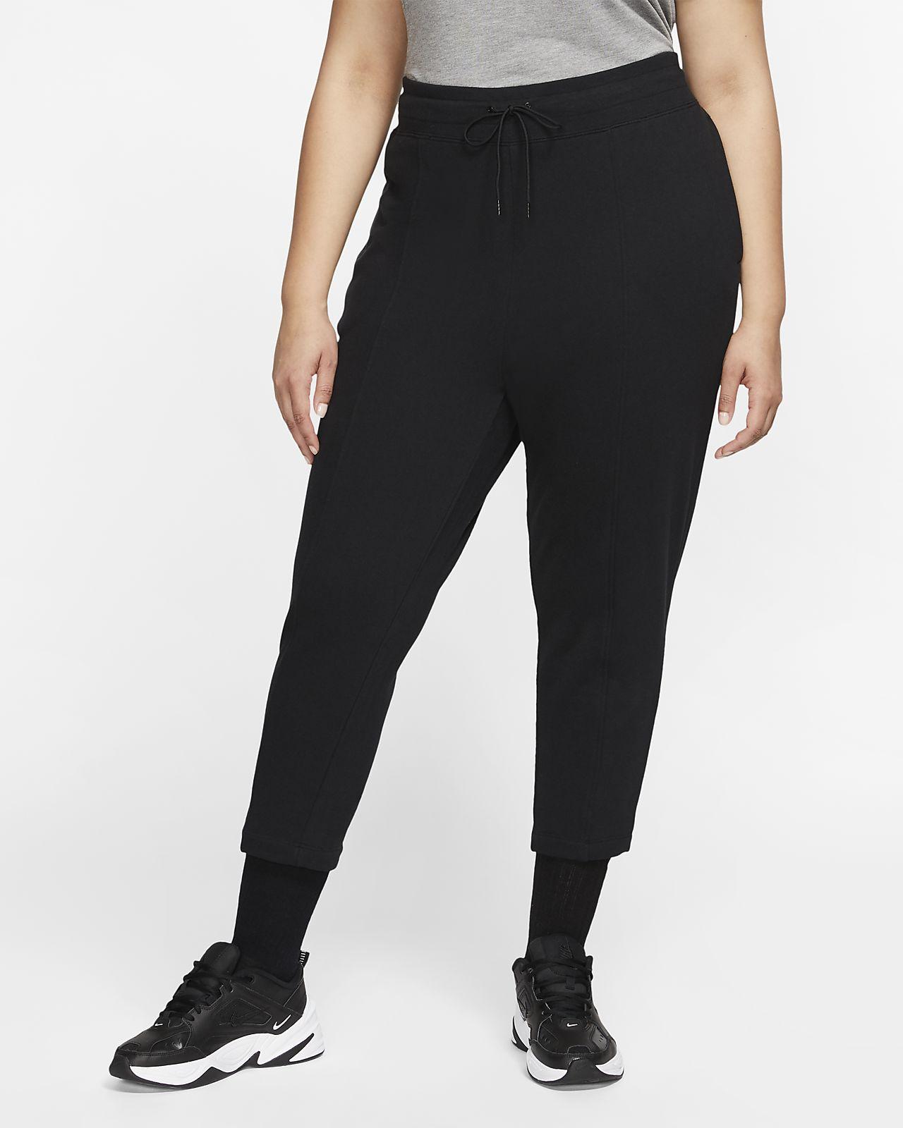 Calças em tecido moletão Nike Sportswear Swoosh para mulher (tamanhos grandes)