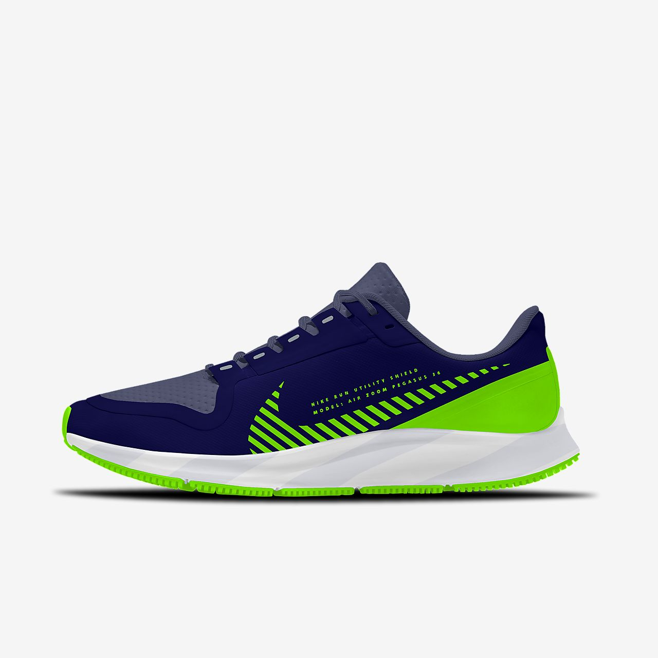 Nike Air Zoom Pegasus 36 Shield By You personalisierbarer Damen-Laufschuh