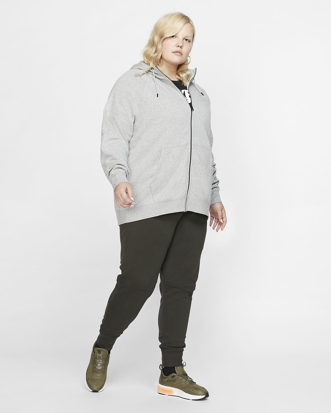 Sportswear zip Essential taille à pour à Nike Sweat capuche Femmegrande K1FJTlc