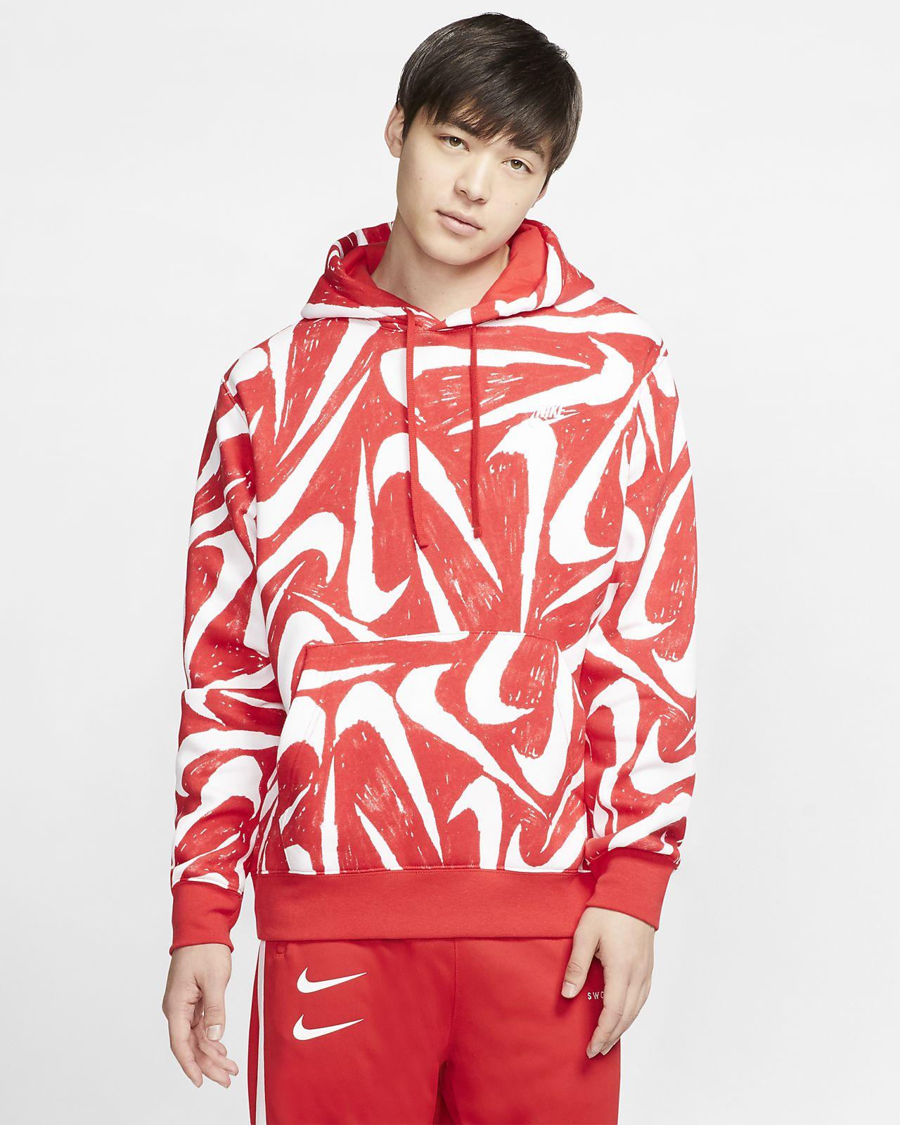 Nike Sportswear Club Fleece Pullover Hoodie (University Red