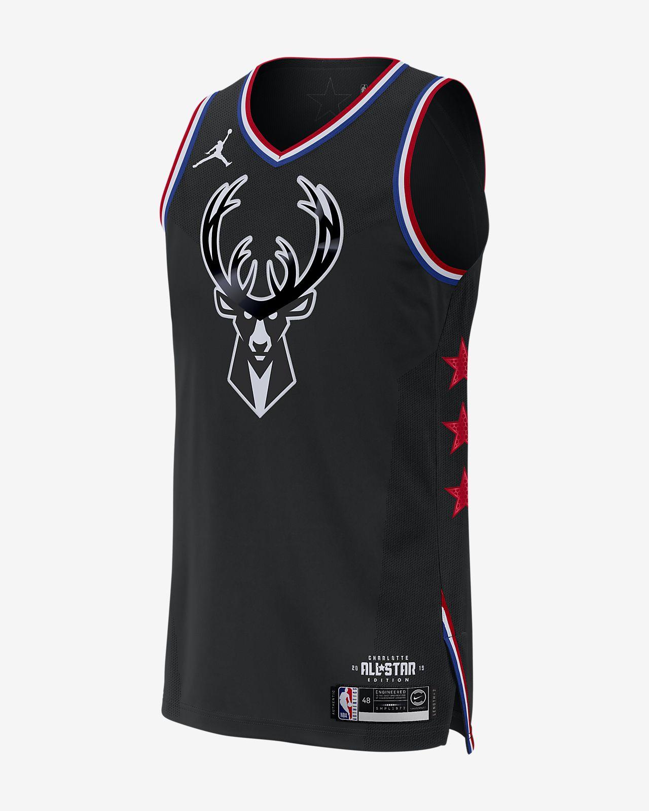c96163ac050 Men's Jordan NBA Connected Jersey. Giannis Antetokounmpo All-Star Edition  Authentic
