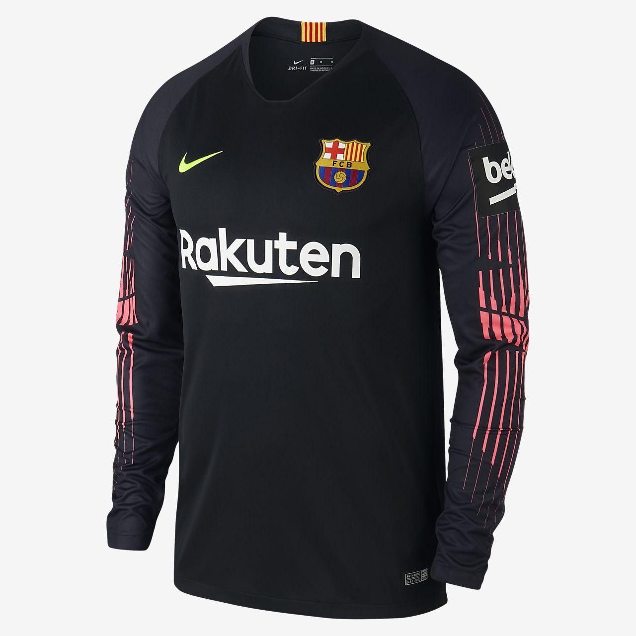 2018/19 FC Barcelona Stadium Goalkeeper Erkek Futbol Forması
