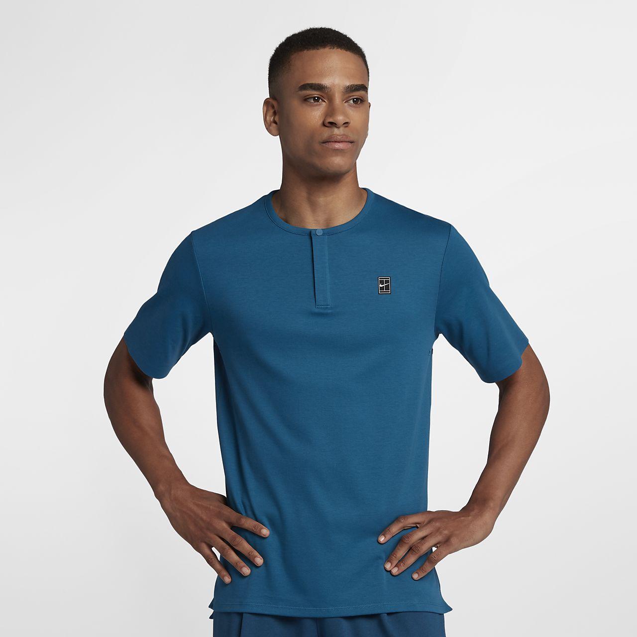 40a0536b89e3 Pánské tenisové tričko s krátkým rukávem NikeCourt. Nike.com CZ