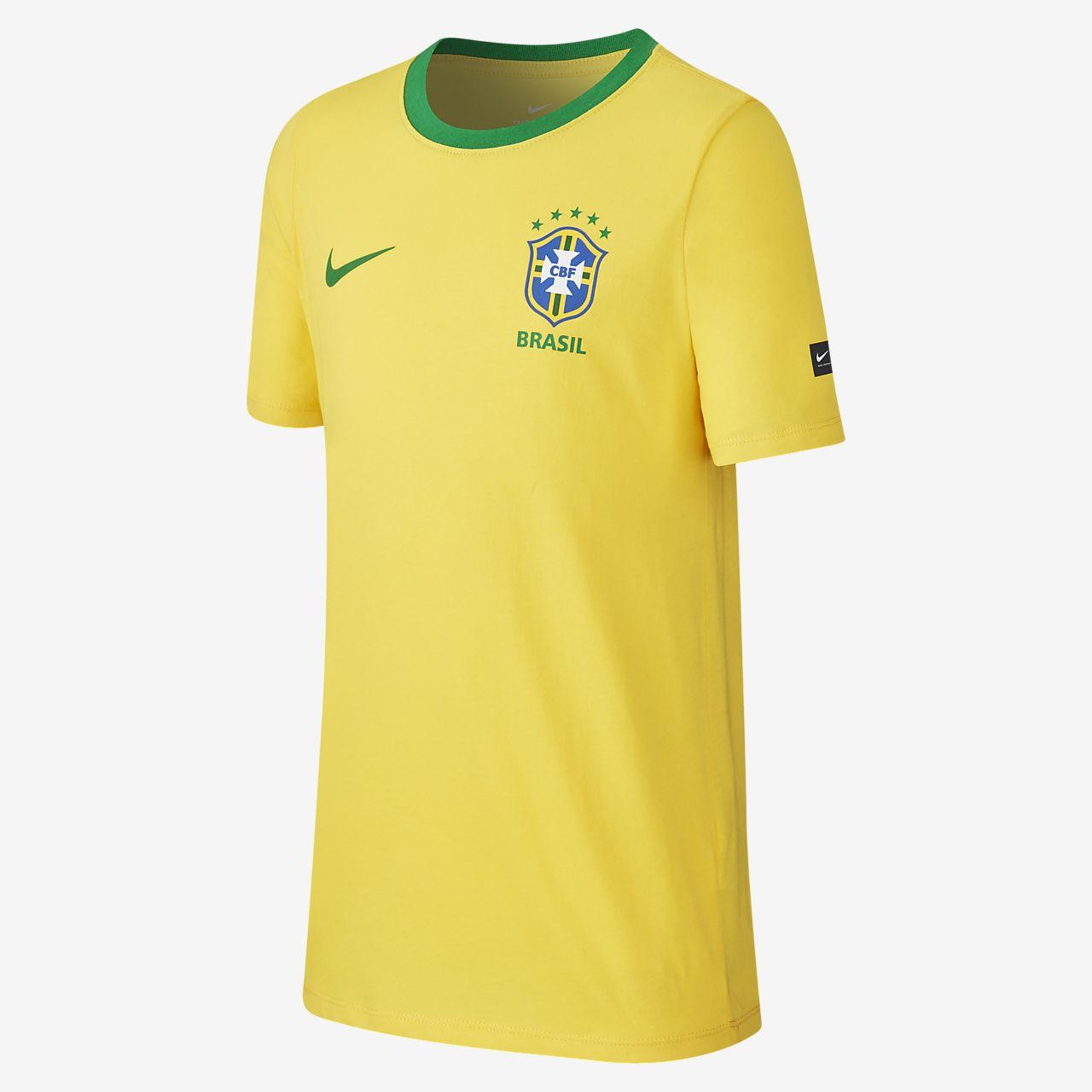9c285acd8f Brasil CBF Crest póló nagyobb gyerekeknek (fiúknak). Nike.com HU