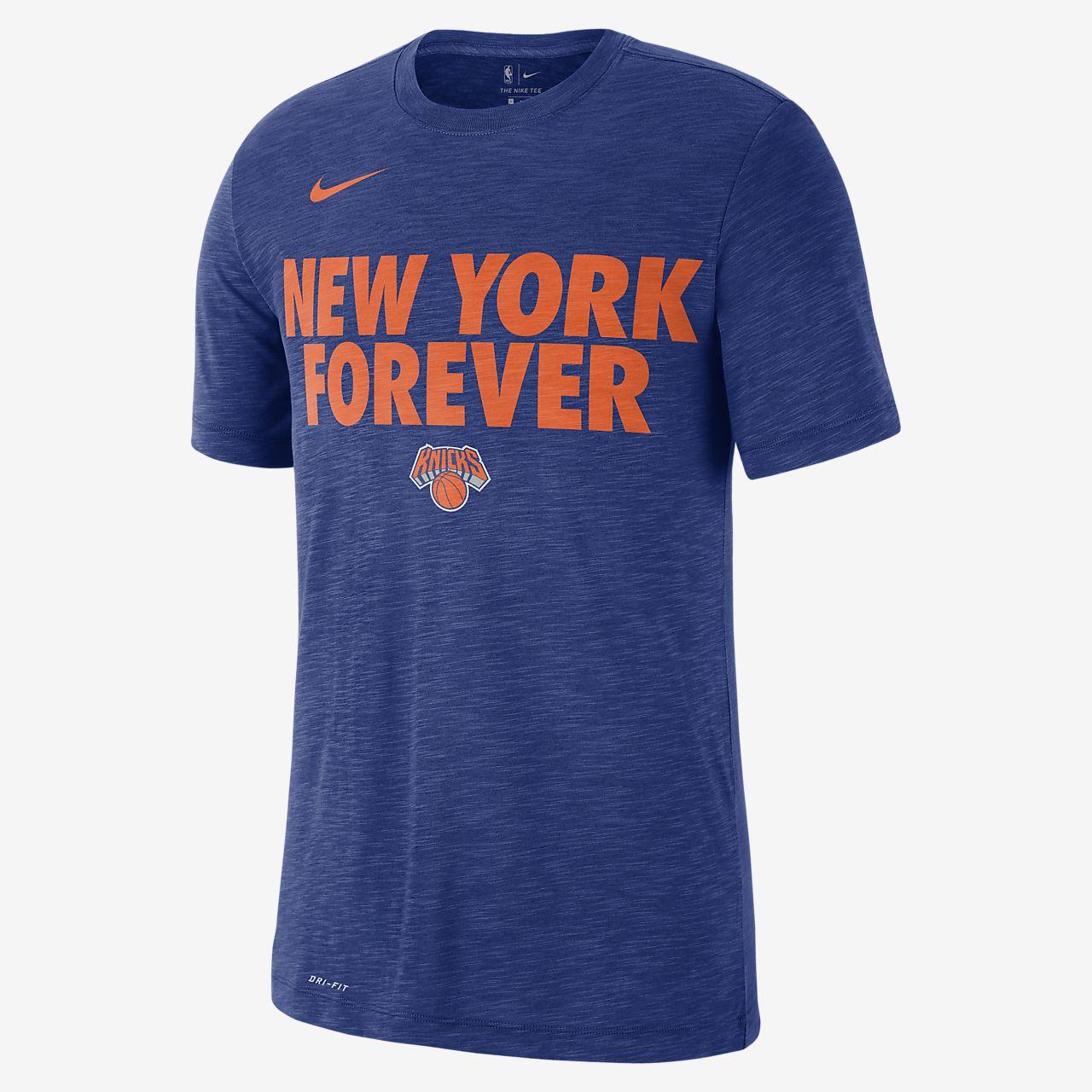 Playera de la NBA para hombre New York Knicks Nike Dri-FIT