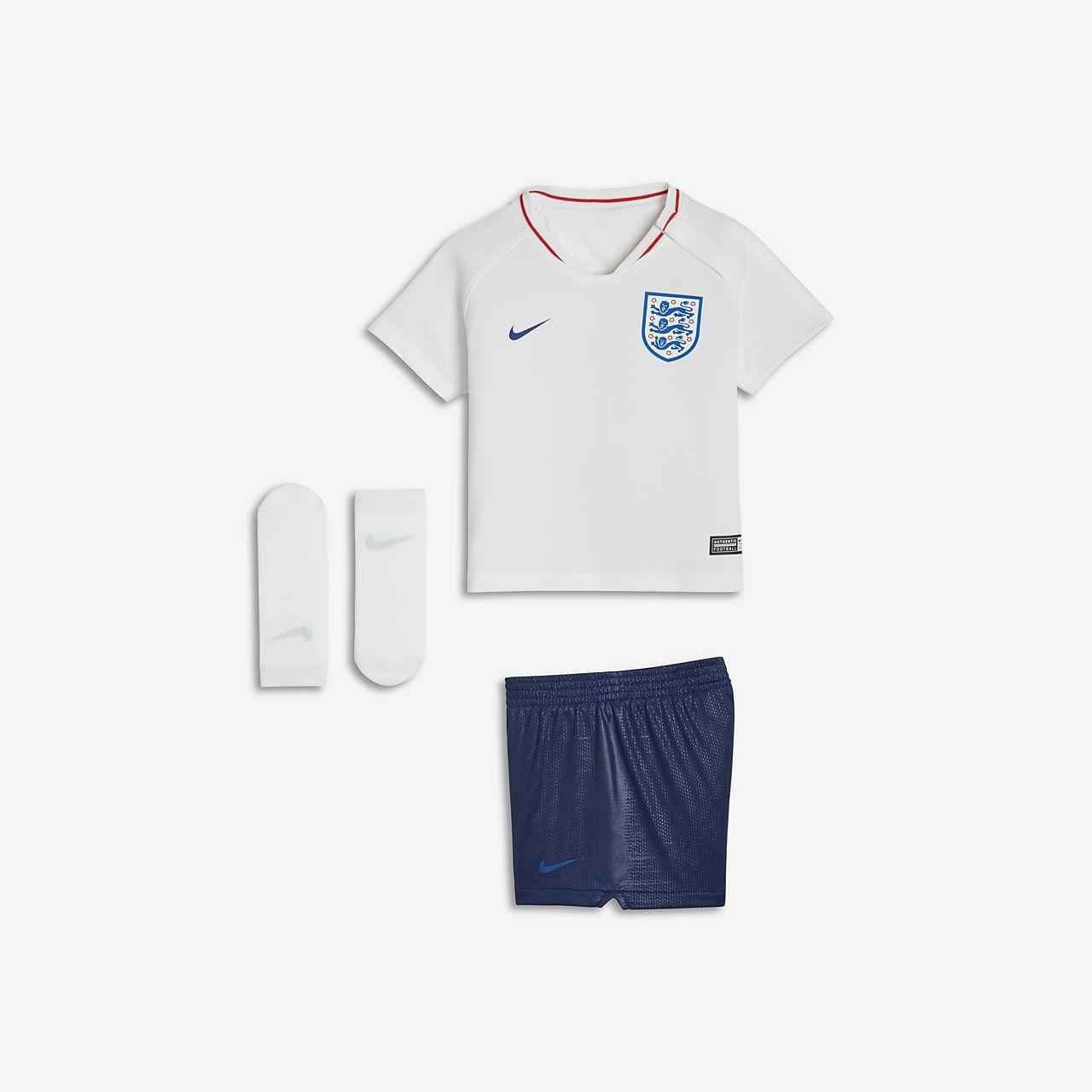 2018 England Stadium Home fotballdraktsett til sped-/småbarn