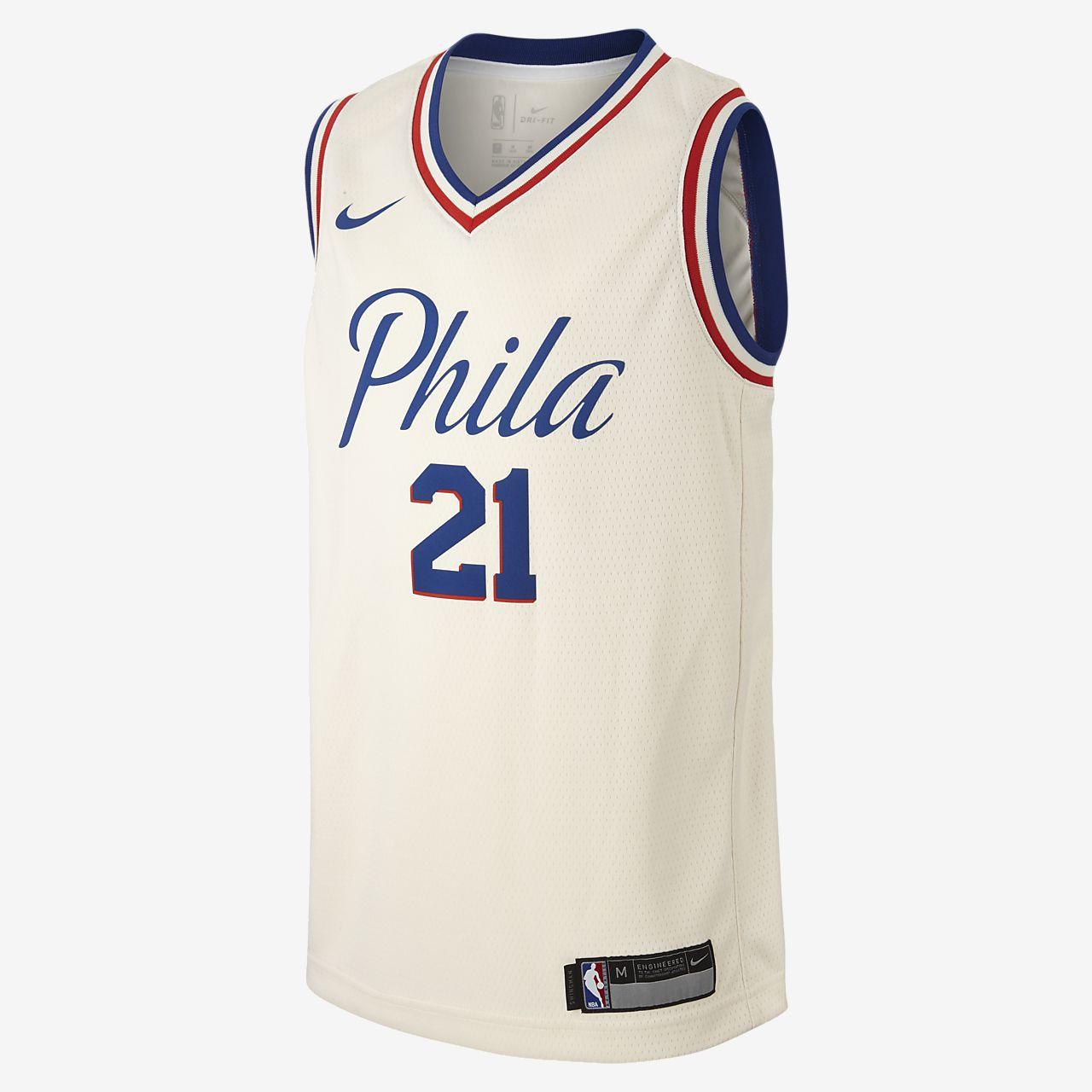 Joel Embiid City Edition Swingman Jersey (Philadelphia 76ers) Older Kids\u0027  Nike NBA Jersey