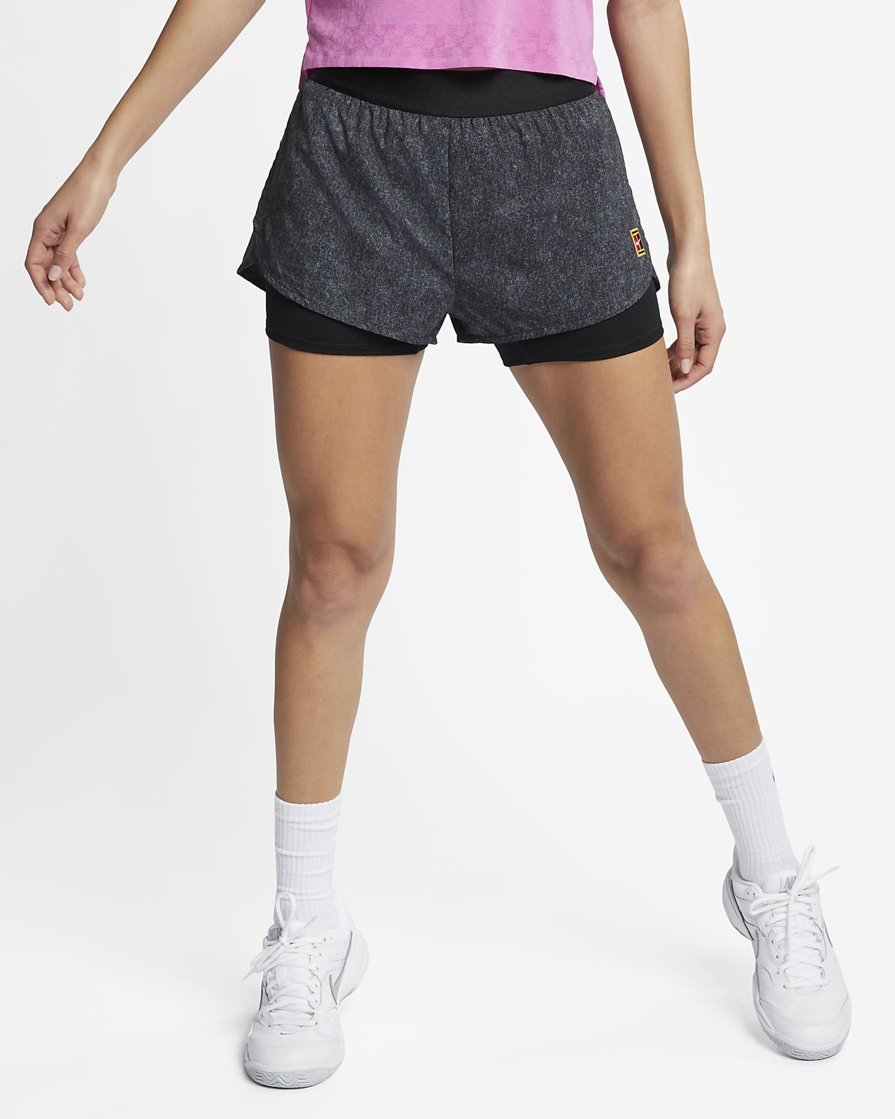 c6ca200f74a NikeCourt Flex Tennisshorts met print voor dames. Nike.com BE