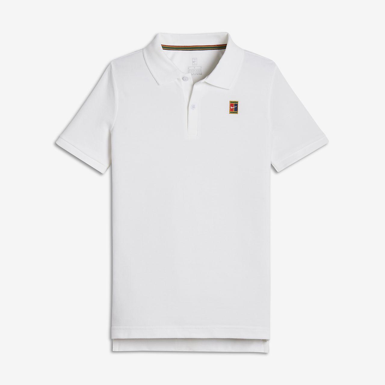 Koszulka polo do tenisa dla dużych dzieci (chłopców) NikeCourt