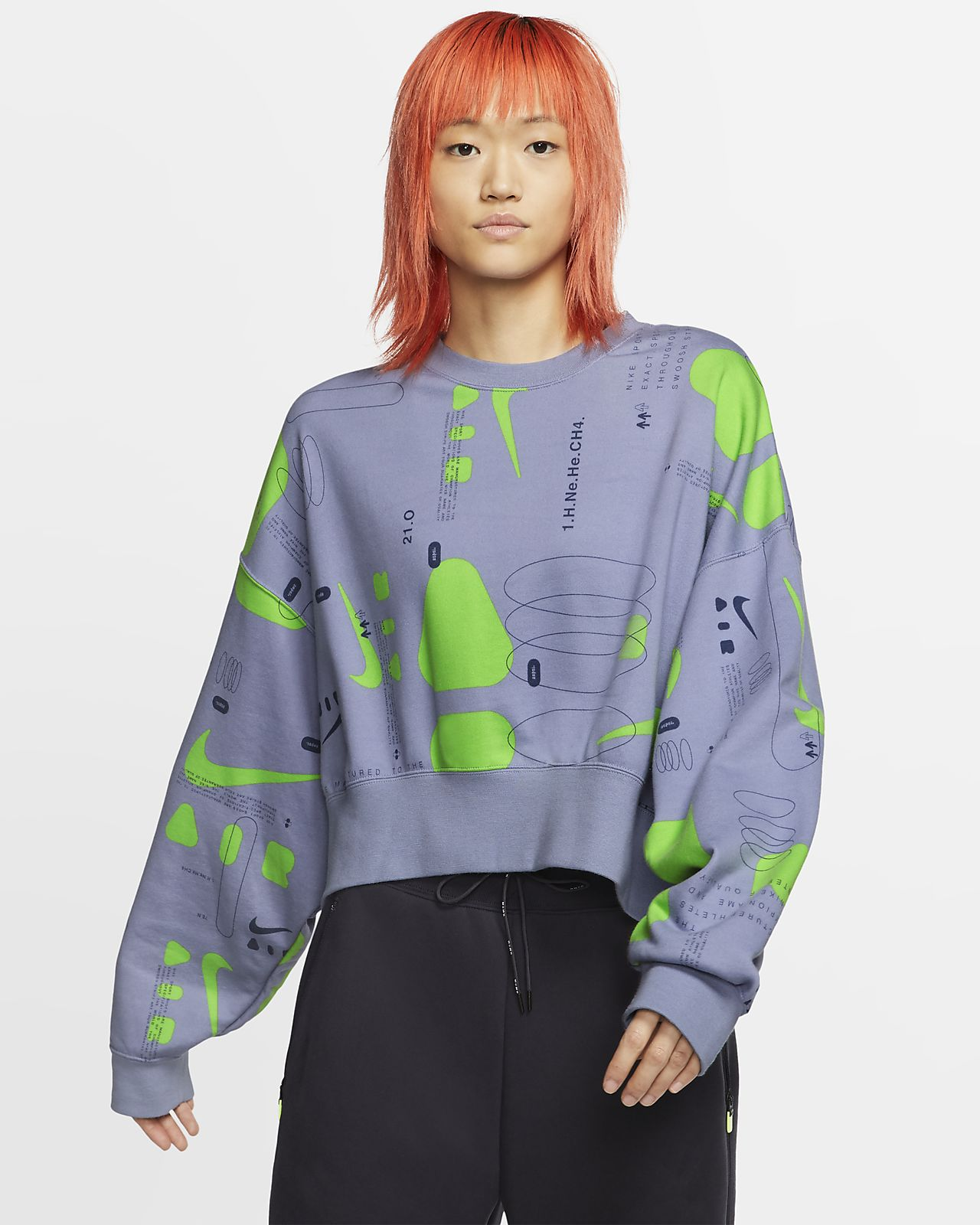 Nike Air Women's Printed Fleece Crew