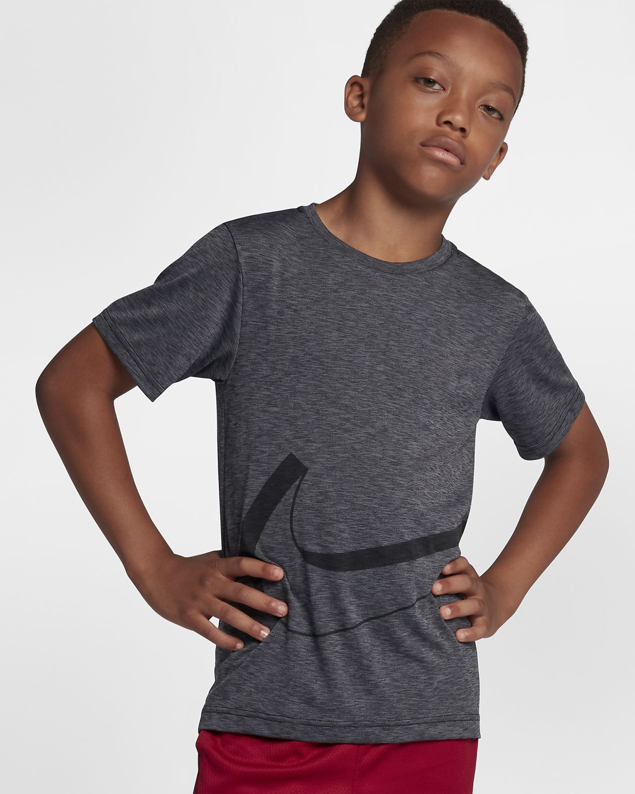 Nike Dri-FIT Breathe Older Kids' (Boys') Short-Sleeve Training Top